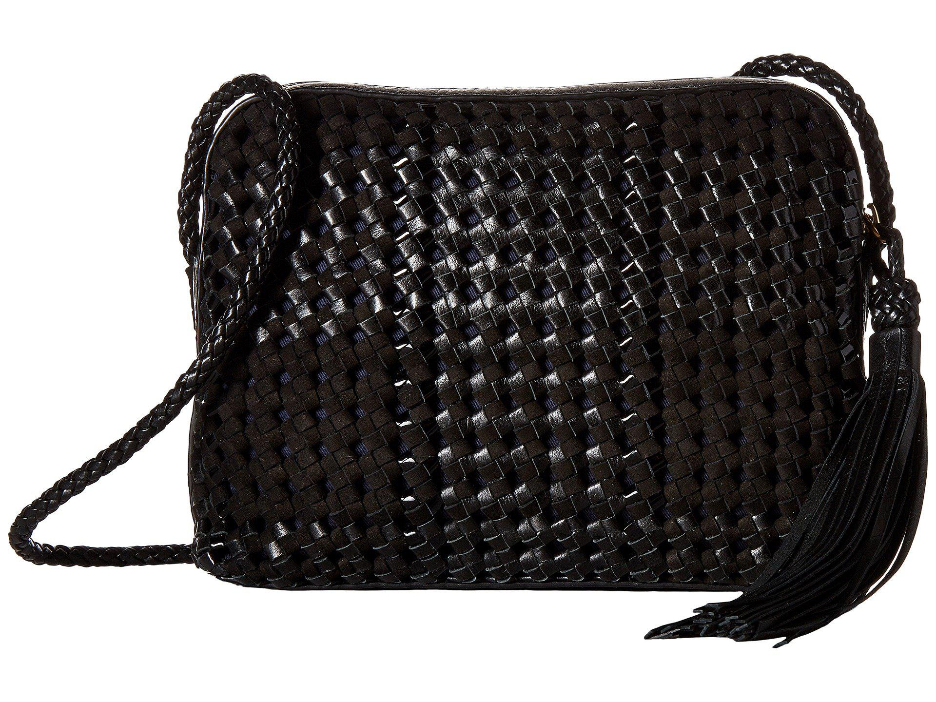 189619263ad Lyst - Tory Burch Taylor Woven Camera Bag in Black