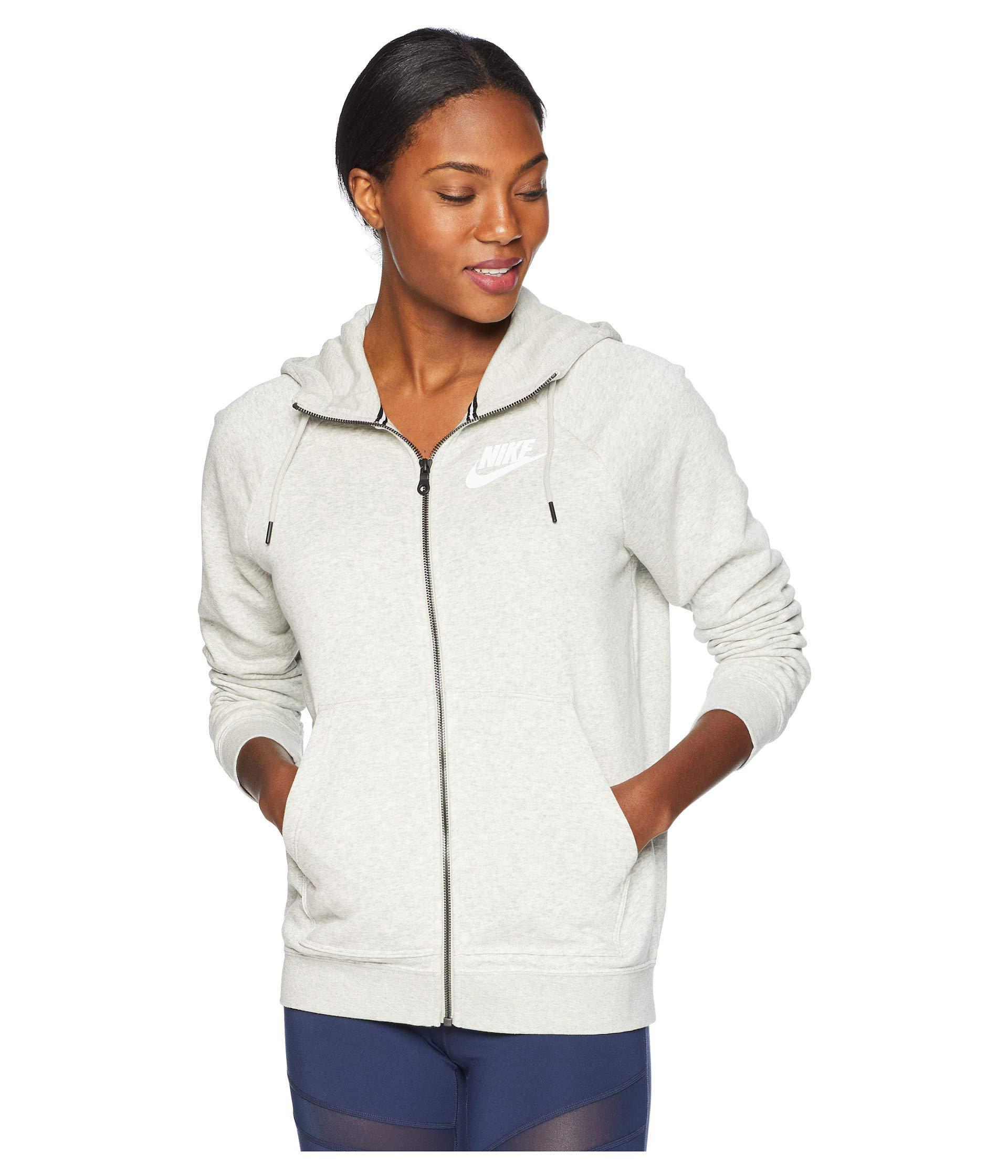 8f5eda975375 Lyst - Nike Rally Hoodie Full Zip (black black white) Women s ...