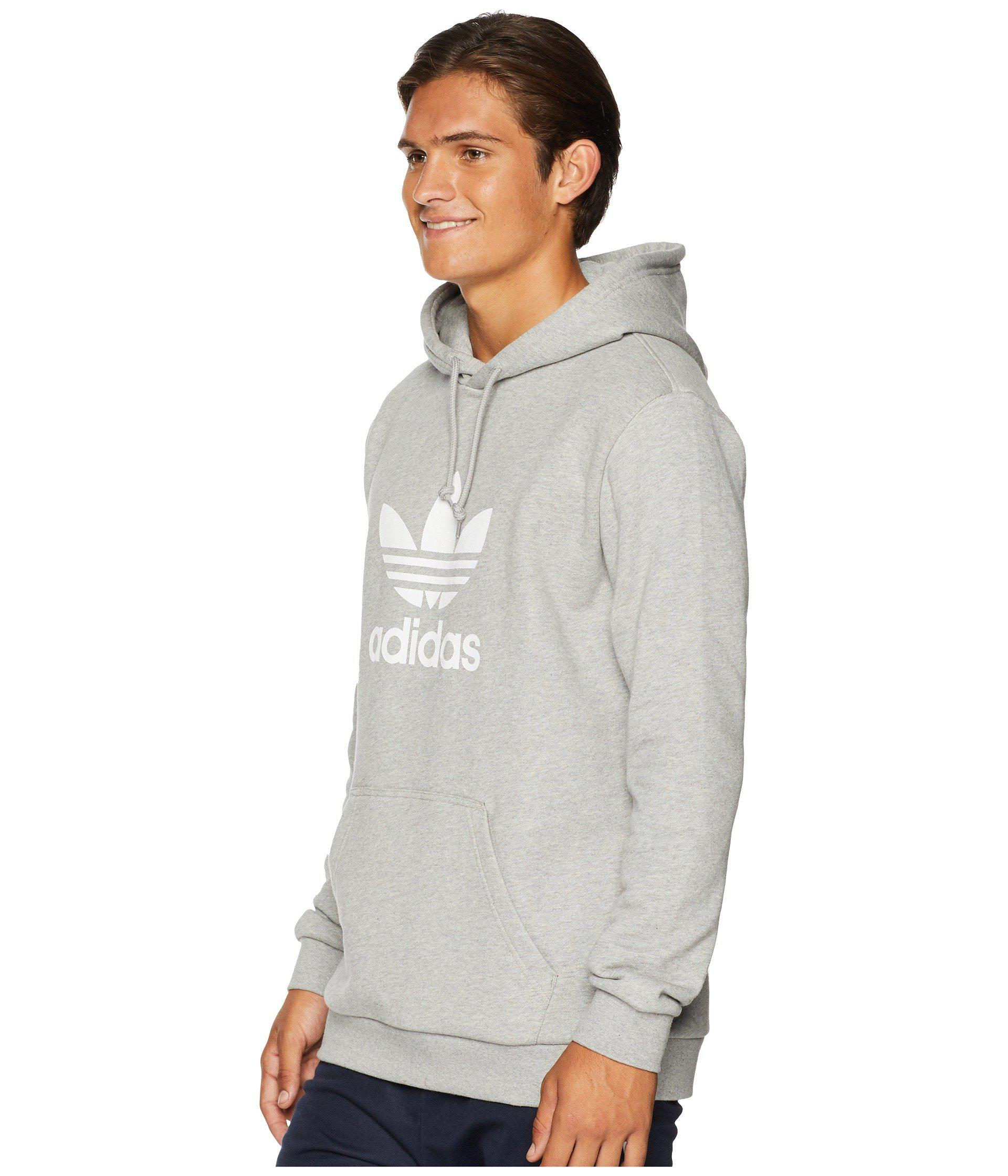 088148d76c8d Lyst - adidas Originals Trefoil Hoodie (medium Grey Heather) Men s  Sweatshirt in Gray for Men - Save 51%