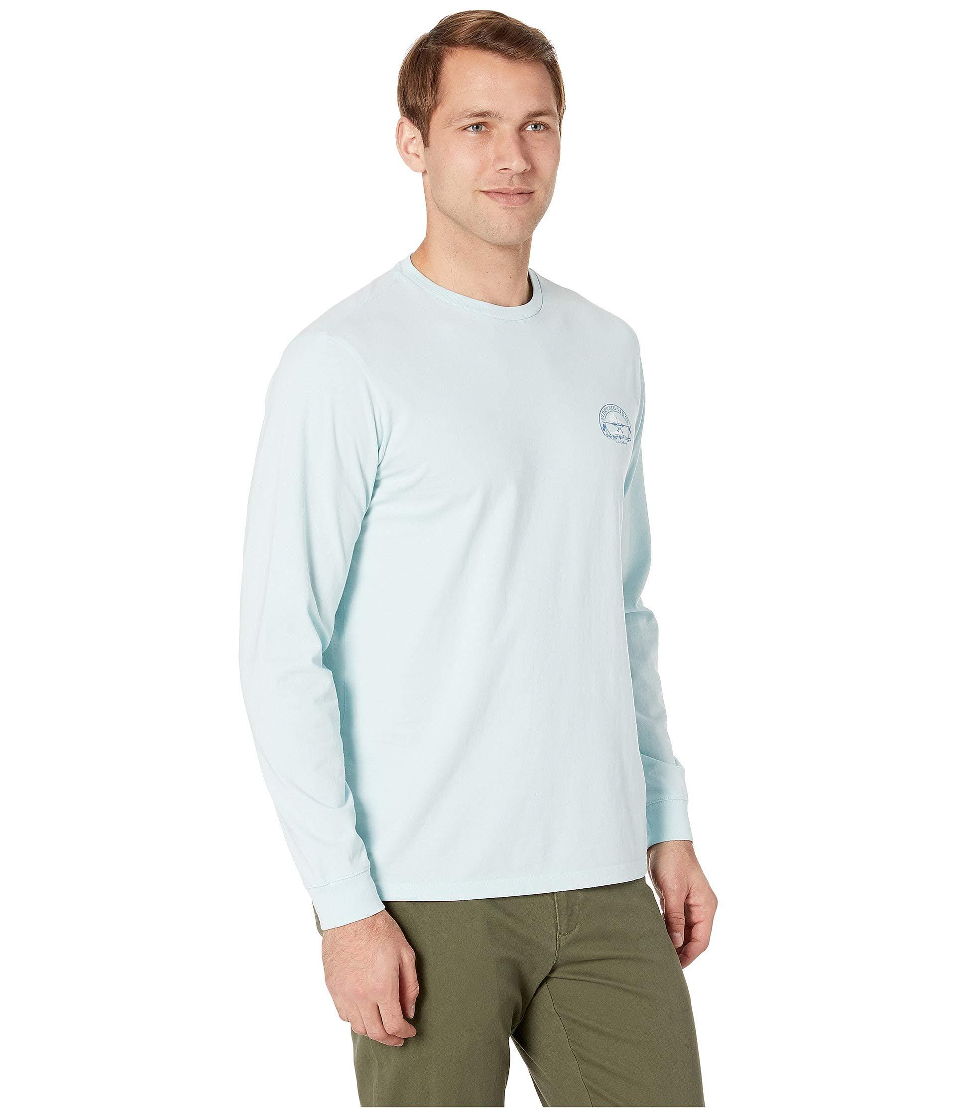 c88bcbf09 Vineyard Vines - Long Sleeve No Runway Tee (misty Blue) Men's T Shirt for.  View fullscreen