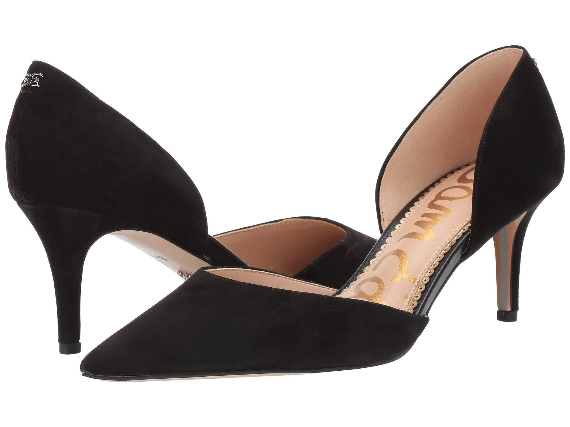 0a4757b4427a Lyst - Sam Edelman Jaina (black Kid Suede Leather) Women s Shoes in ...