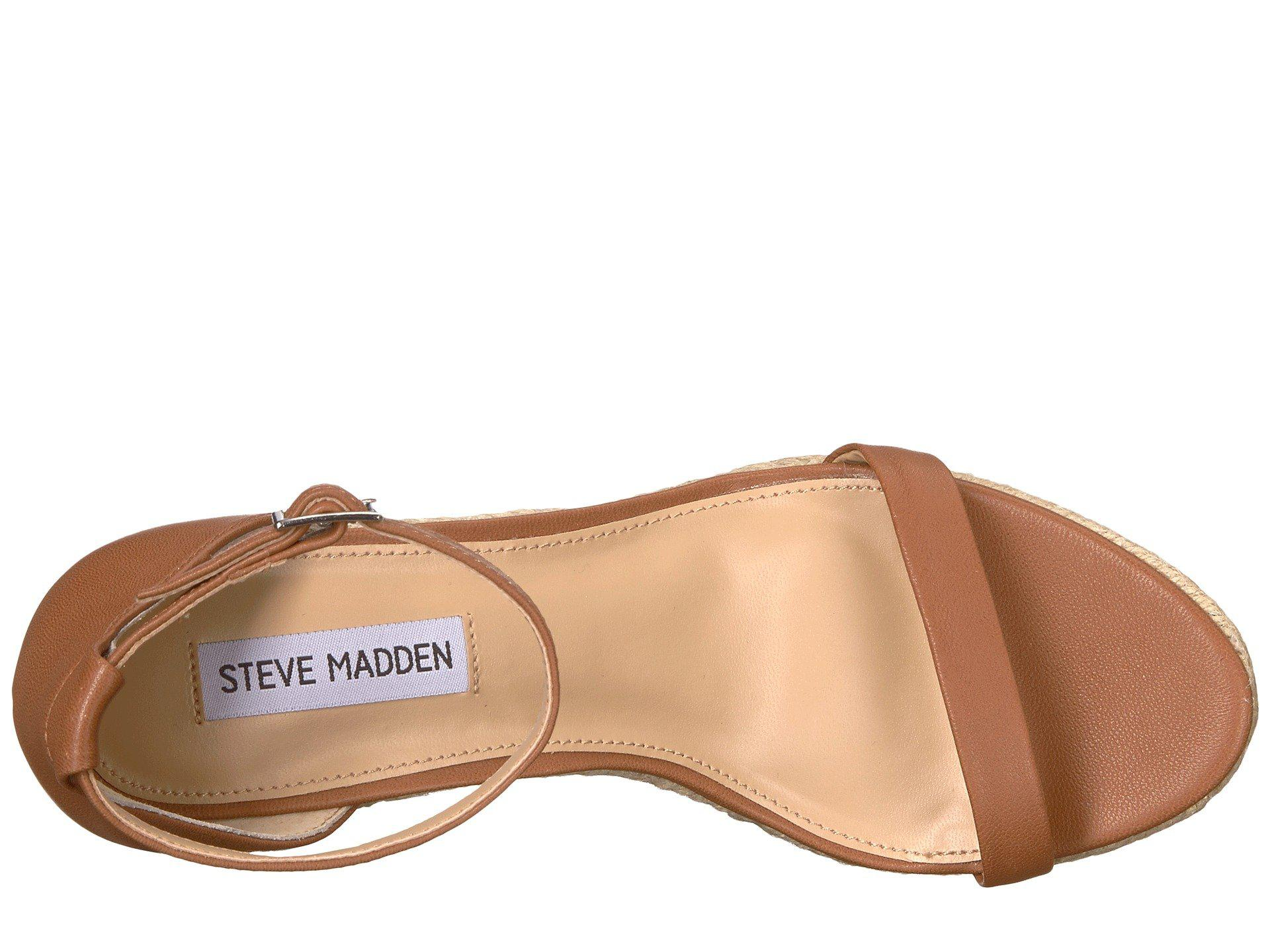 93553188195 Lyst - Steve Madden Survive (cognac Leather) Women s Wedge Shoes in ...