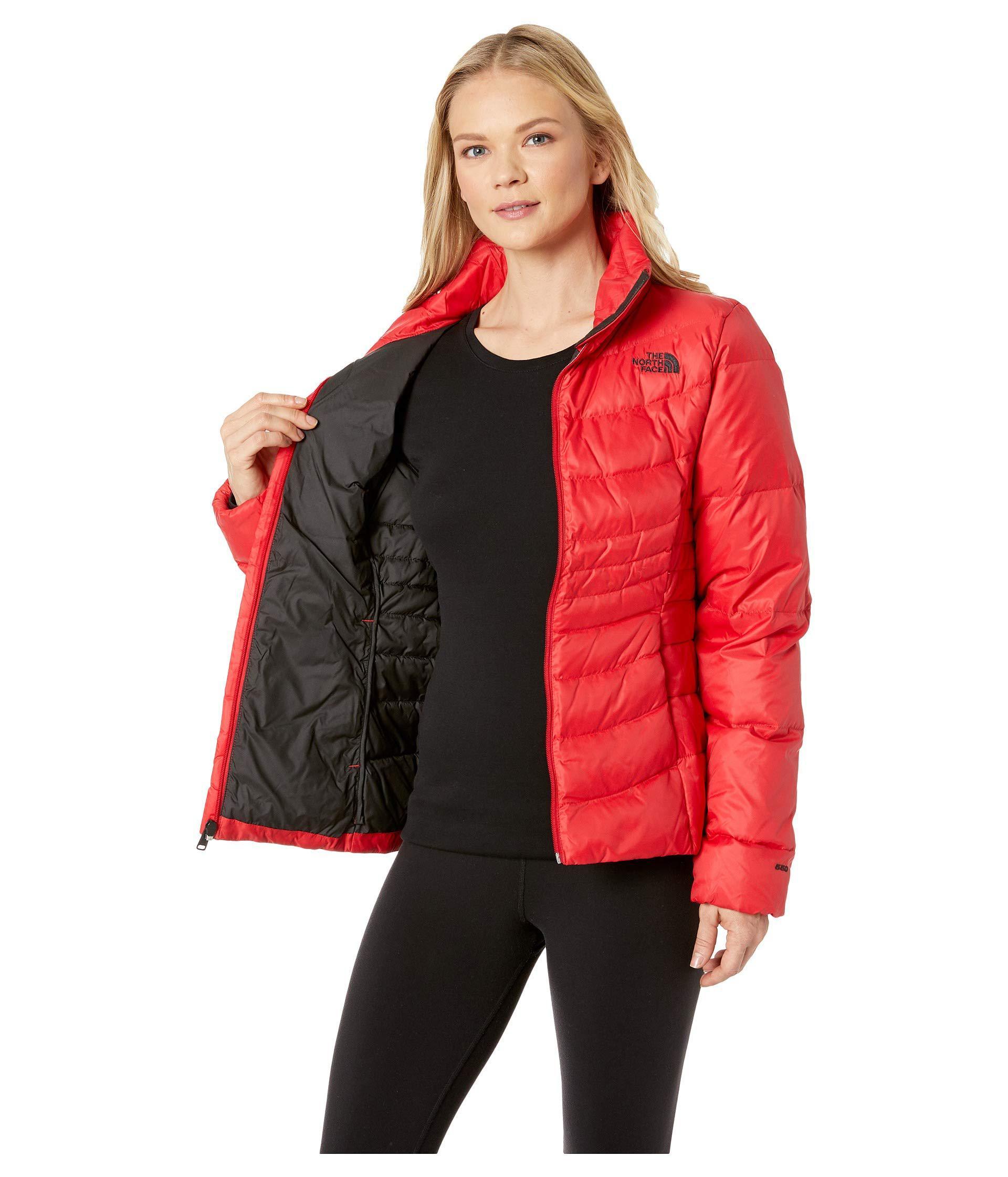 ebef30f87ec72 The North Face - Red Aconcagua Jacket Ii (shiny Mid Grey) Women s Coat -.  View fullscreen