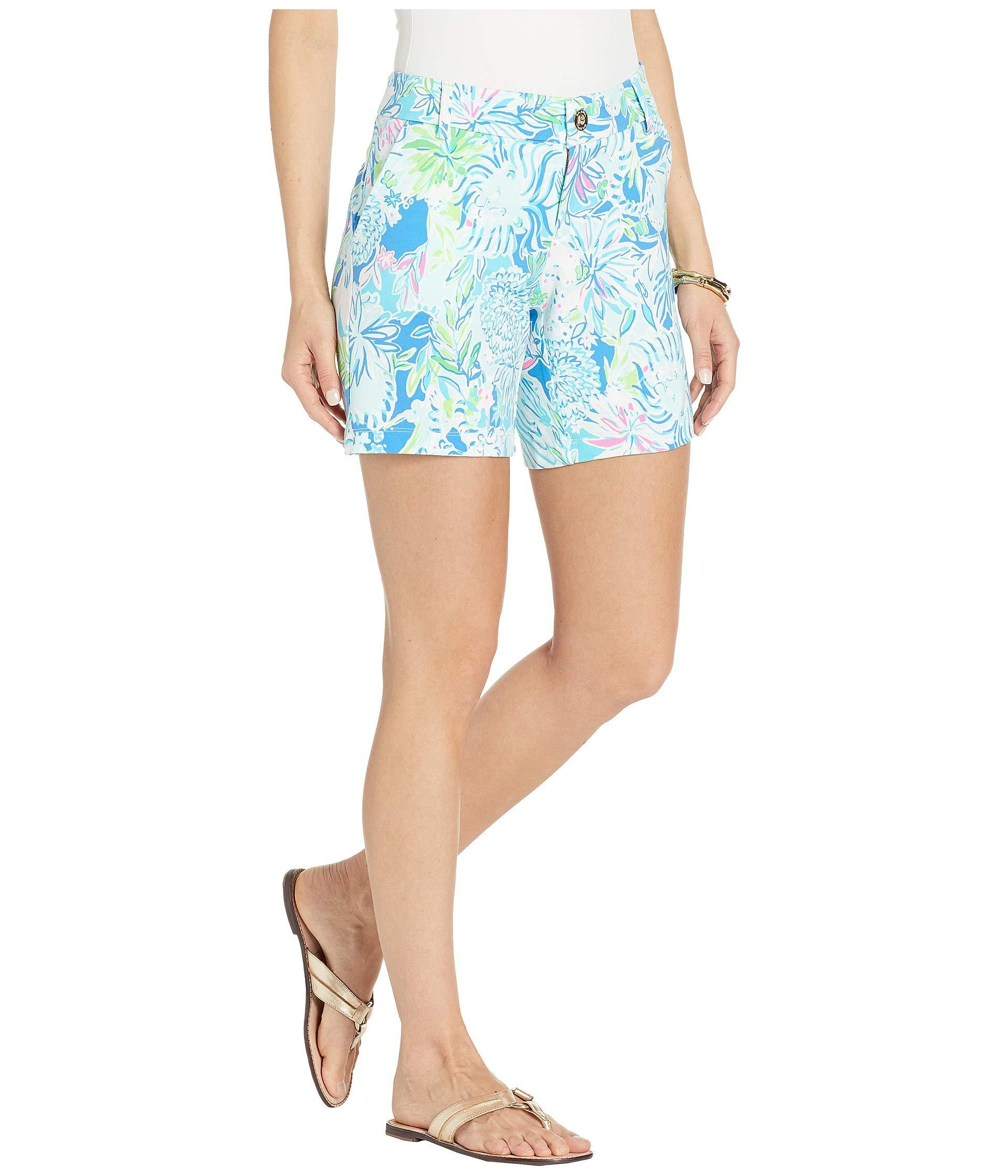 277d5e43a61911 Lilly Pulitzer - Jayne Knit Shorts (coastal Blue Lion Around) Women's Shorts  - Lyst. View fullscreen