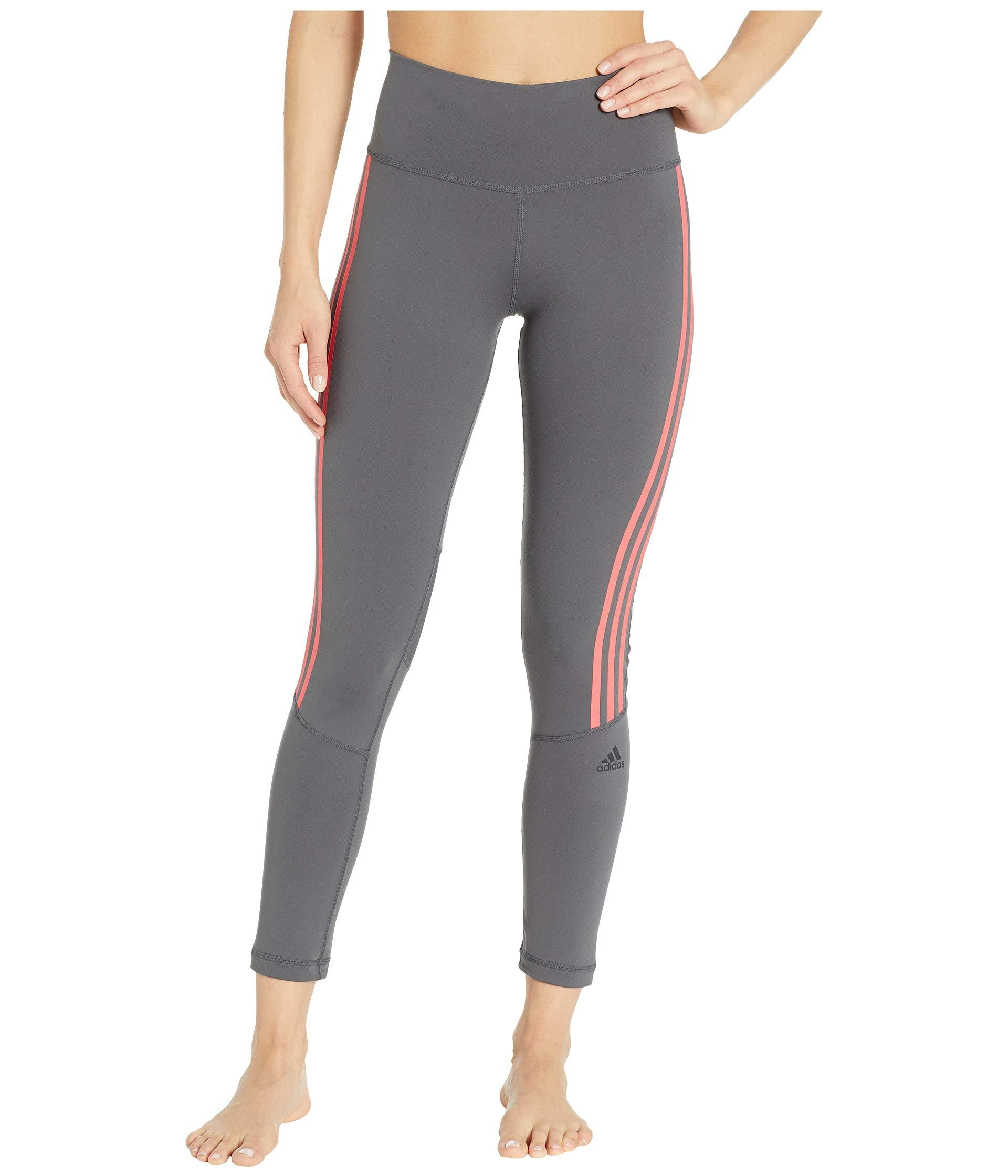 737f928361a9 Lyst - adidas Believe This High-rise 3-stripes 7 8 Tights (black ...