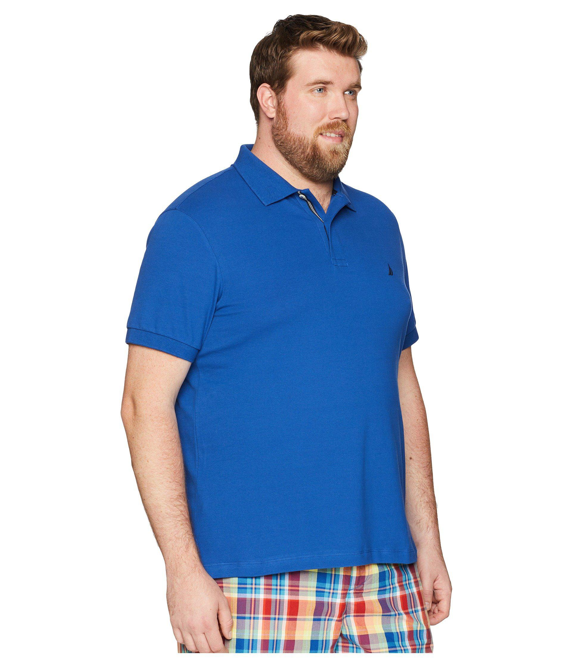 d294a1ff Nautica - Blue Big Tall Short Sleeve Solid Deck Shirt (cobalt Wave) Men's  Clothing. View fullscreen