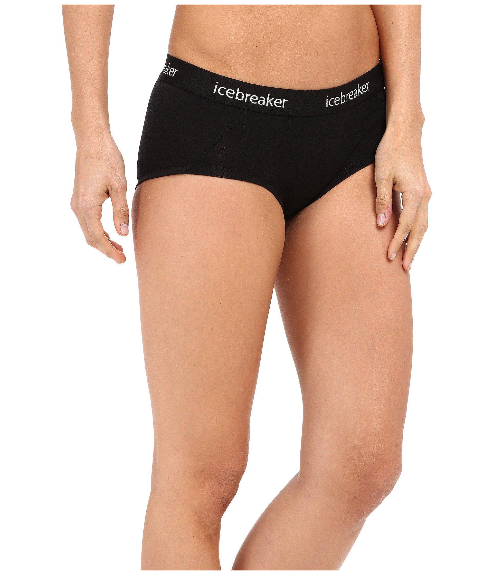 43e8850b423 Icebreaker - Sprite Hot Pant (black black) Women s Underwear - Lyst. View  fullscreen