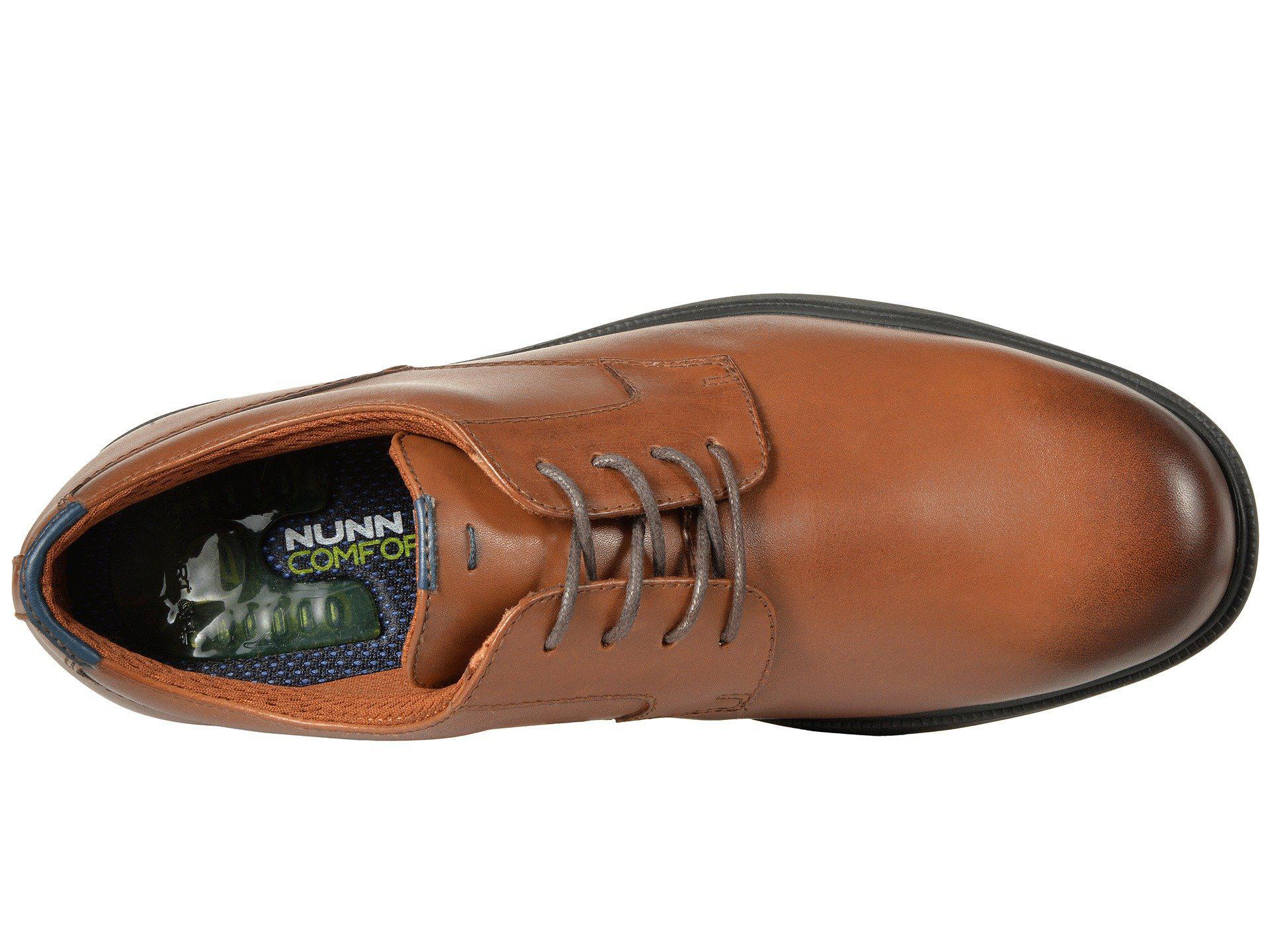 6ce669945 Nunn Bush - Brown Marvin Street Plain Toe Oxford With Kore Slip Resistant  Walking Comfort Technology. View fullscreen