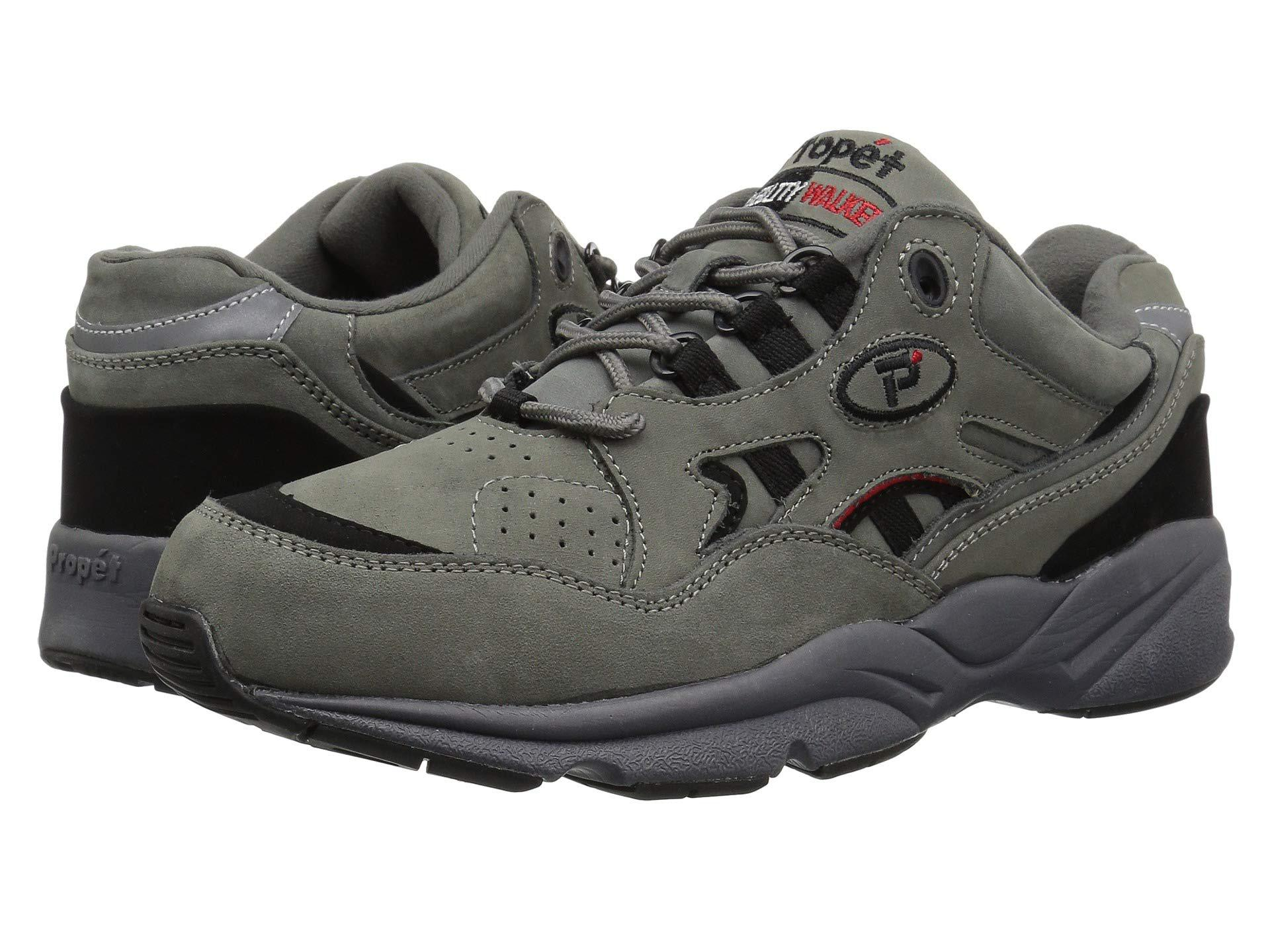 7263512eec2a0 Propet. Gray Stability Walker Medicare hcpcs Code   A5500 Diabetic Shoe  (white Leather) Men s Walking Shoes