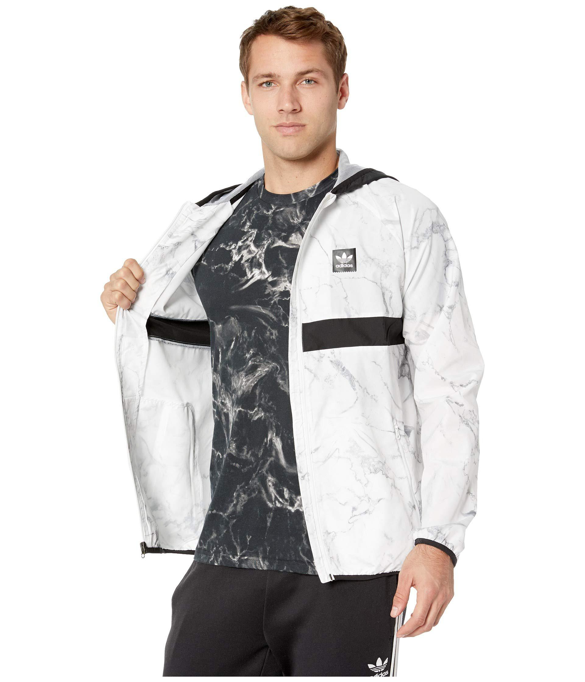 a50ae5731d8e Lyst - adidas Originals Marble Bb Packable Jacket (white dgh Solid ...