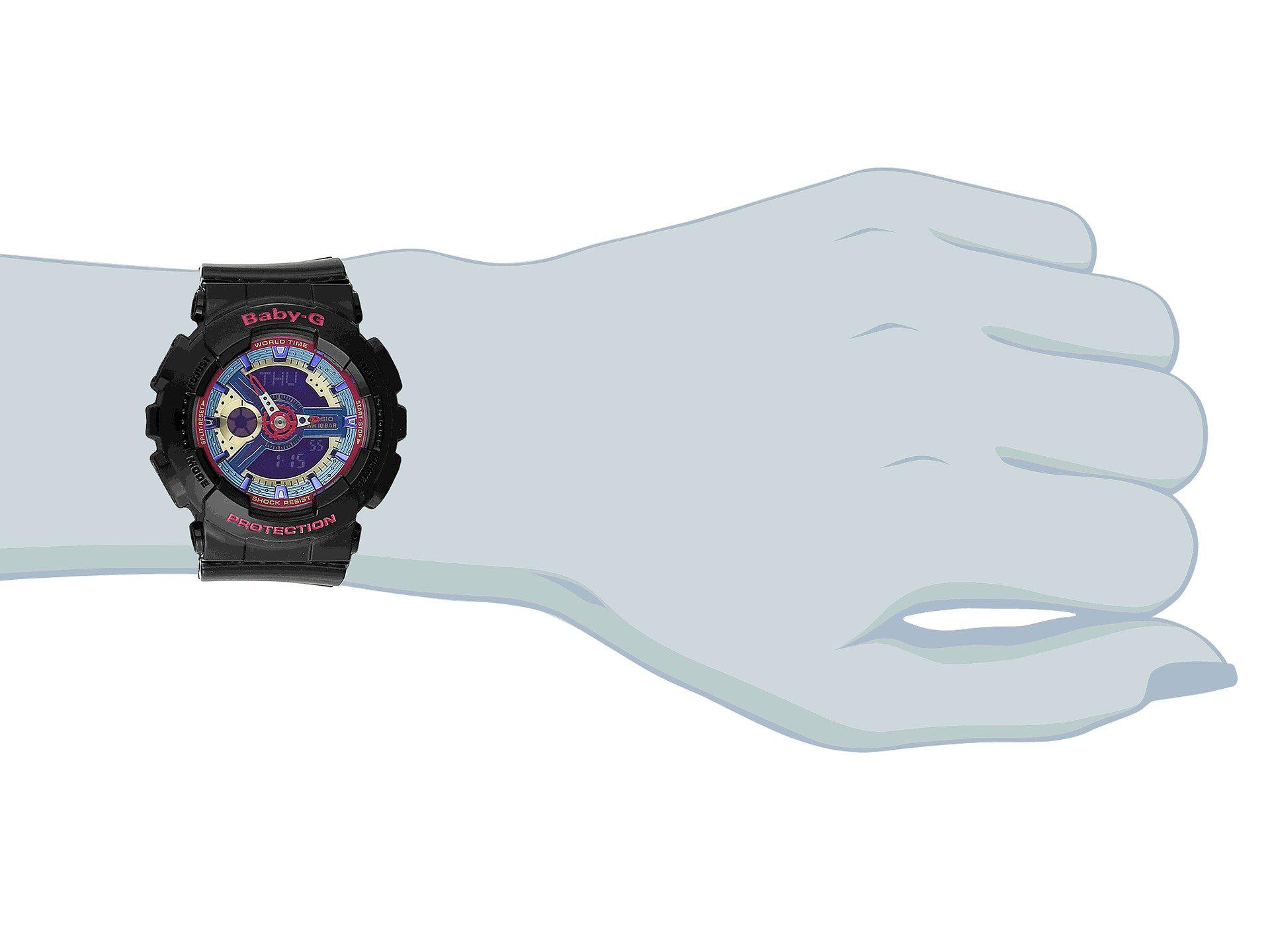 Lyst G Shock Ba112 In Black Casio Baby Ba 112 4a Gallery
