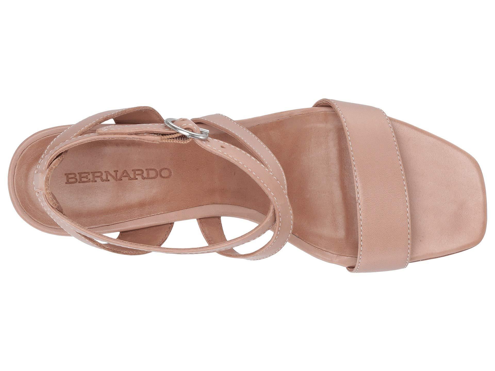 4dac7033b49 Lyst - Bernardo Brielle Heeled Sandal (blush Antique Calf) Women s ...