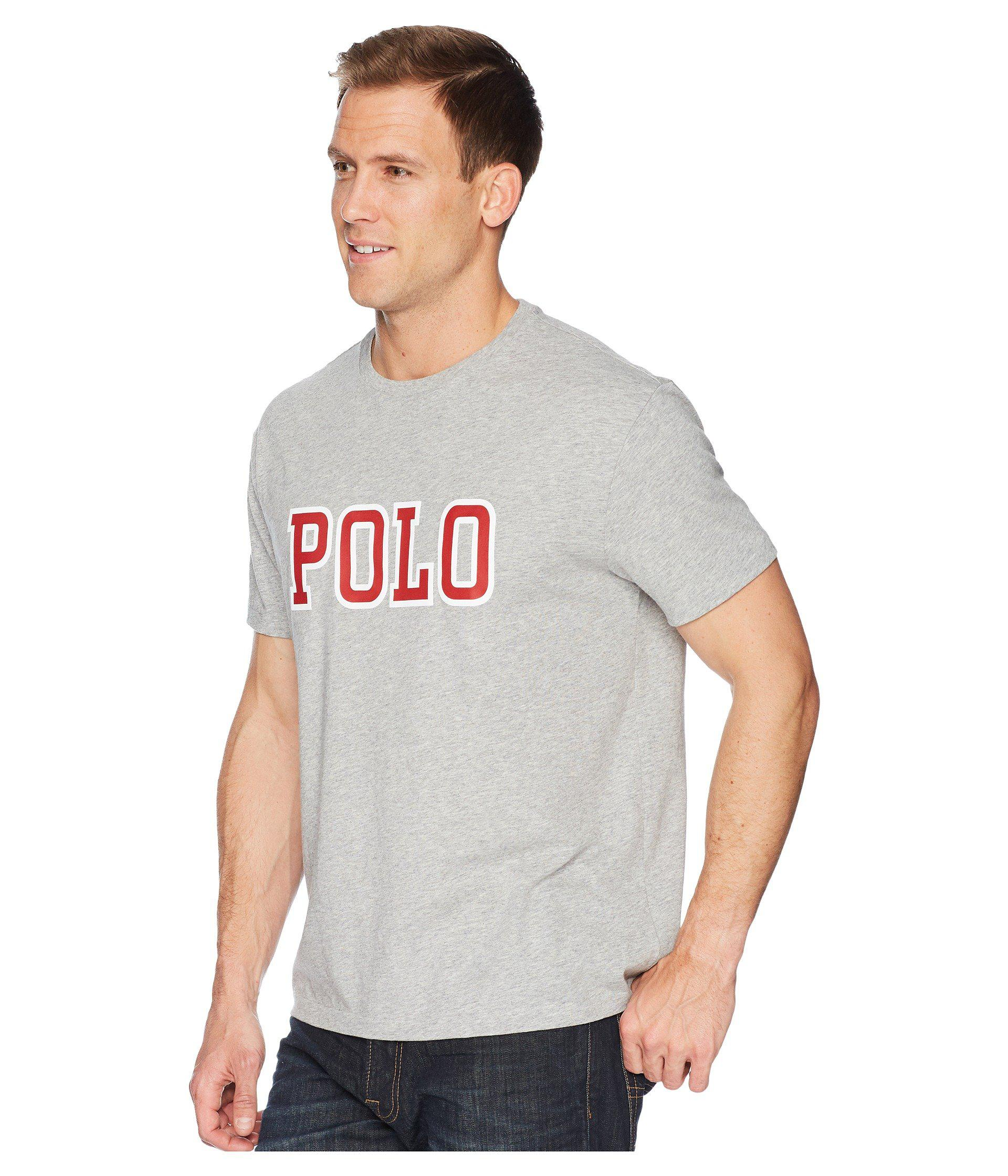 2184a1a3651b Lyst - Polo Ralph Lauren Print Shop Logo Tee (andover Heather) Men s T Shirt  in Gray for Men