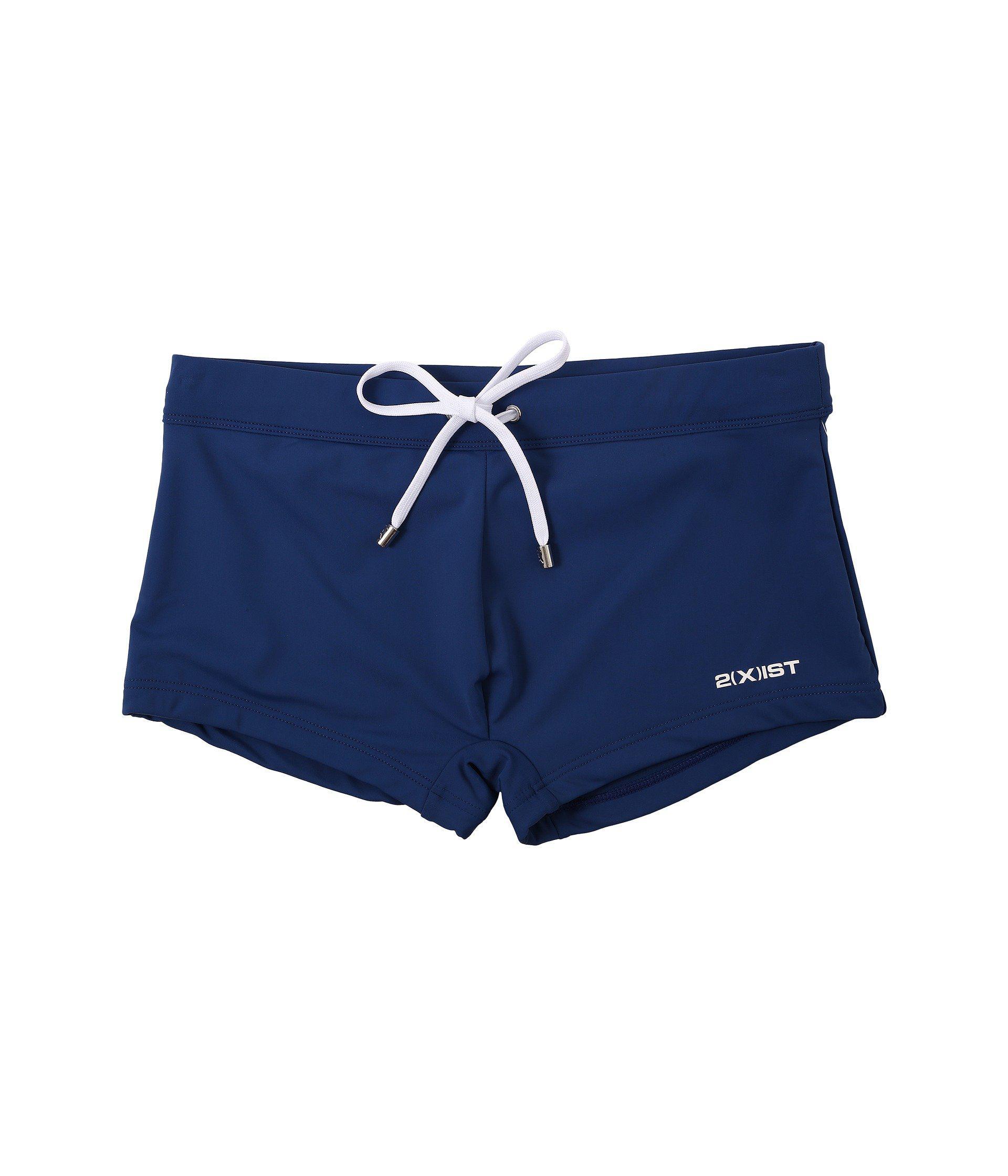 74edd268e4 Lyst - 2xist 2(x)ist Essential Cabo (black) Men's Swimwear in Blue ...