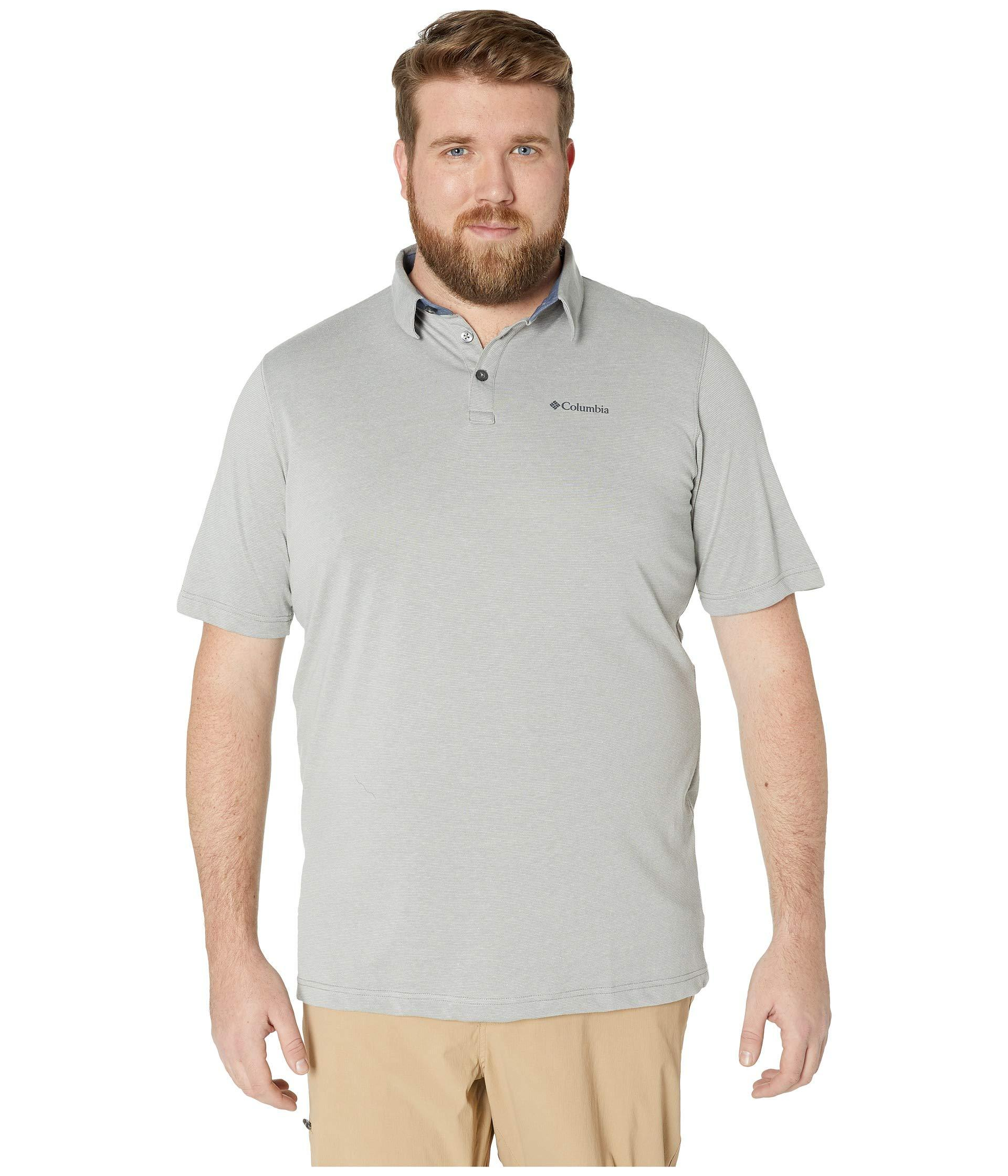 928d54148 Columbia - Gray Big Tall Thistletown Ridgetm Polo (impulse Blue) Men's  Short Sleeve Knit. View fullscreen