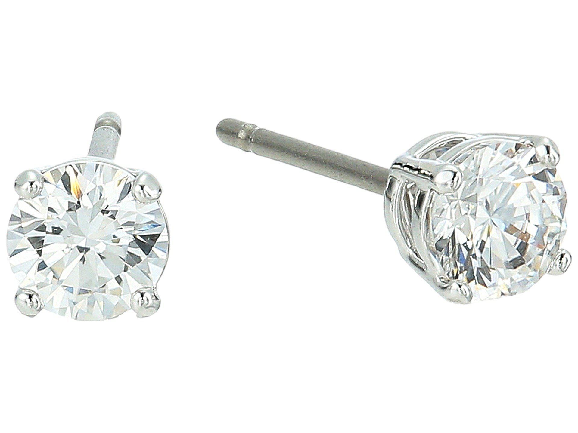 a2e1ffb9a Swarovski Attract Round Pierced Earrings (rhodium Plating/white ...