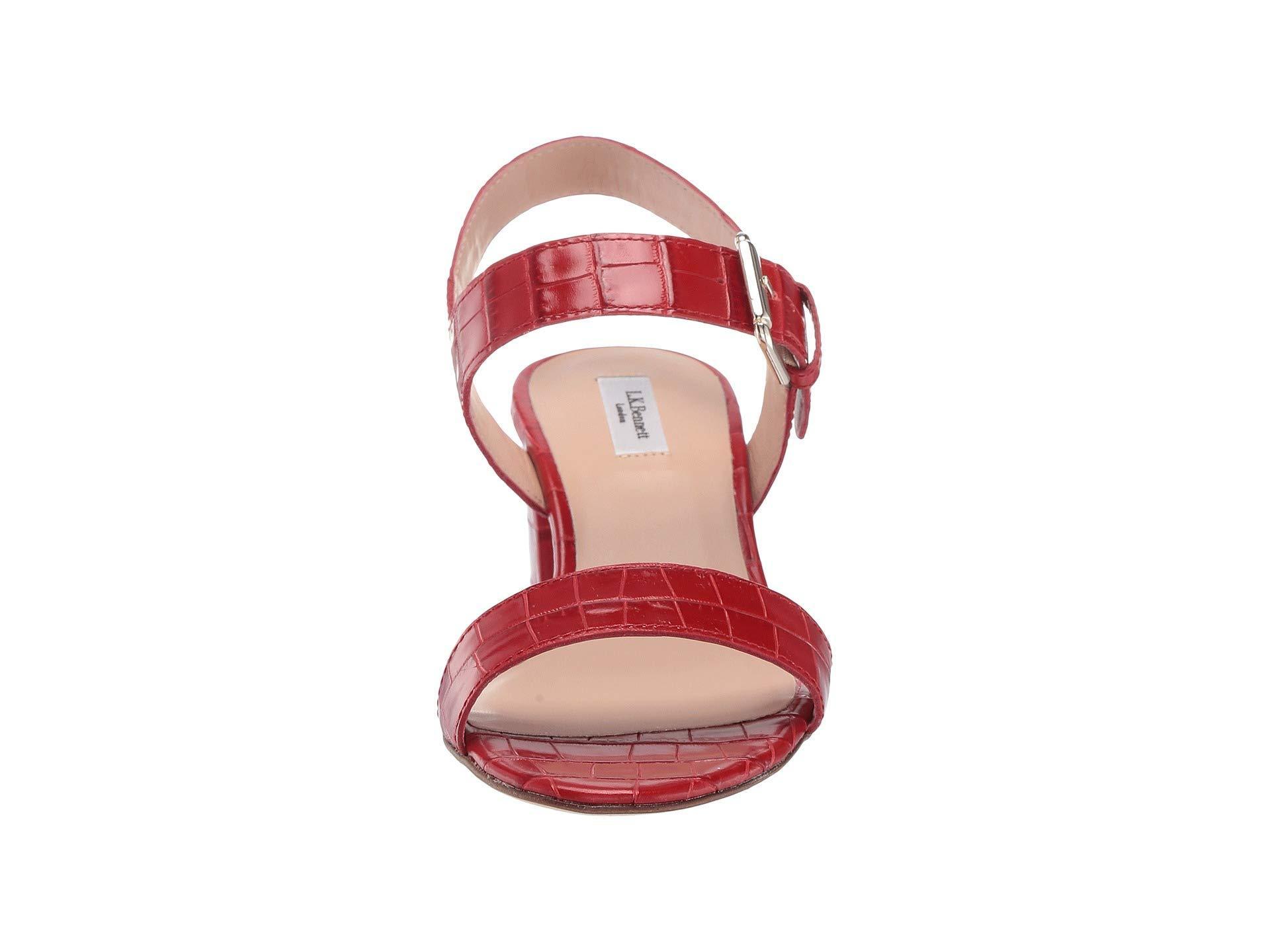 Lyst Heelroca In k L bennett Pelham Block RedHigh Red Heels rtQCshd