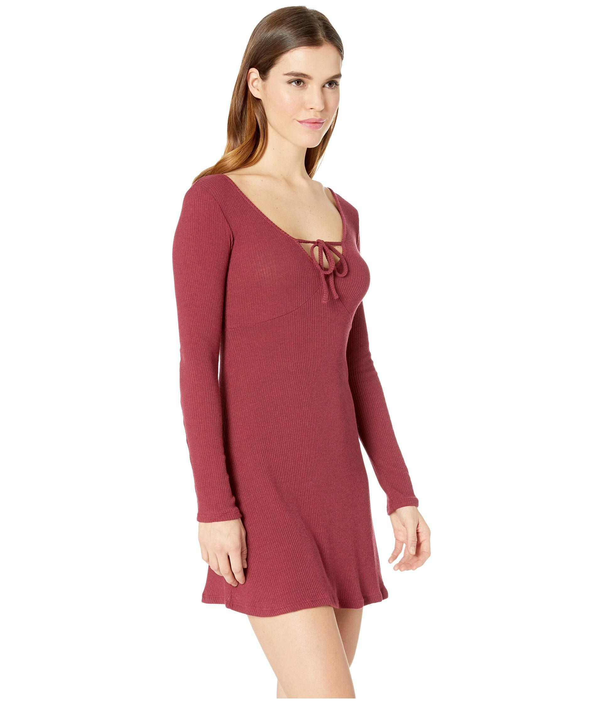 48292865fa Billabong - Red Walk On Dress (cranberry) Women s Dress - Lyst. View  fullscreen