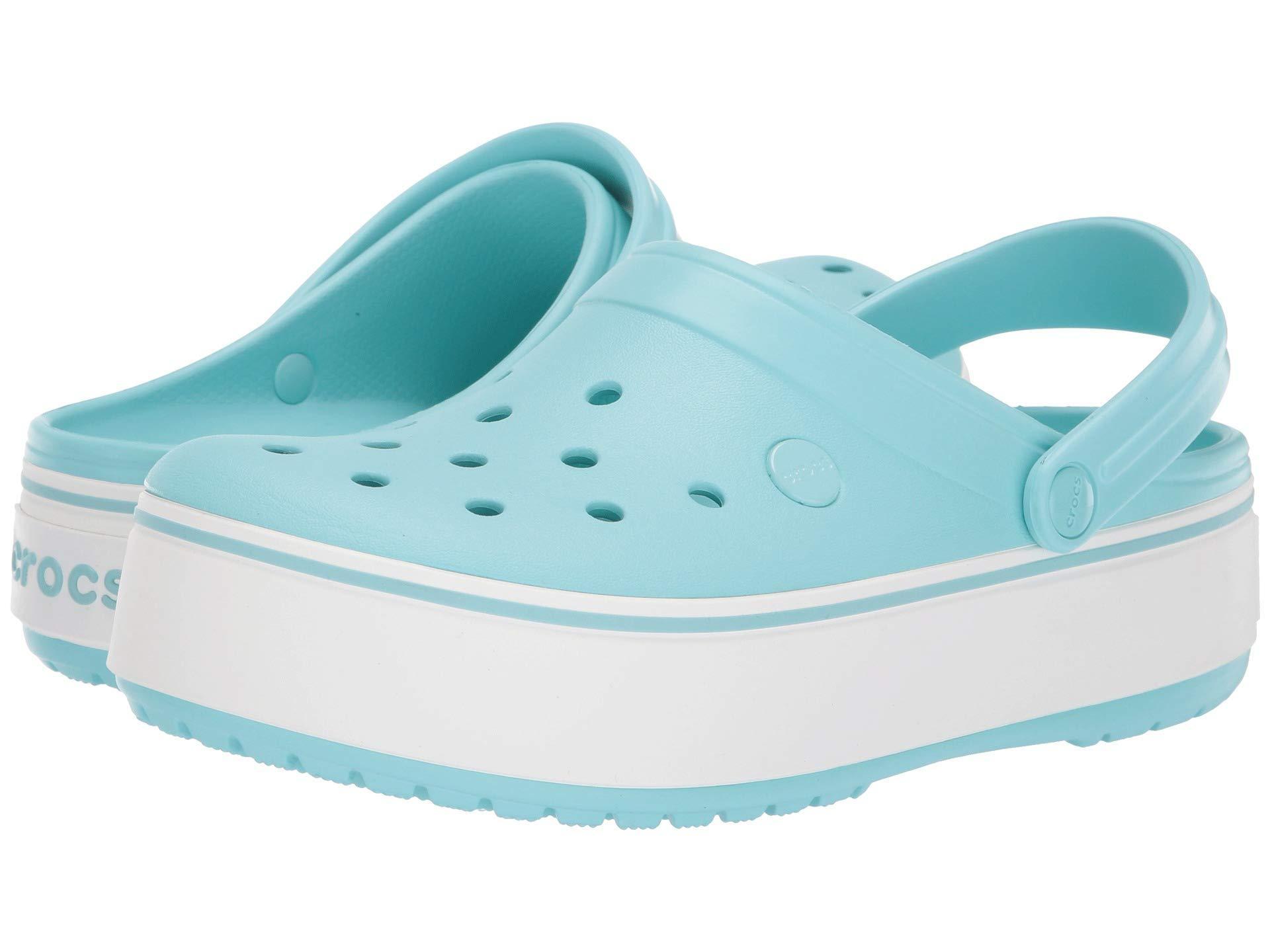 94d01c3daf91 Lyst - Crocs™ Crocband Platform Clog (white white) Women s Clog ...