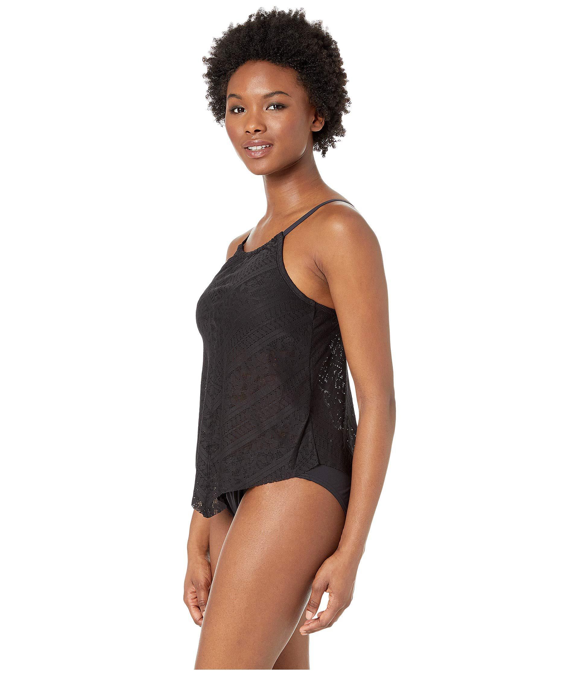42d104fabe5e7 Lyst - Bleu Rod Beattie Chic Peek Fly Away High Neck W/ Removable Cups  (navy) Women's Swimwear in Black
