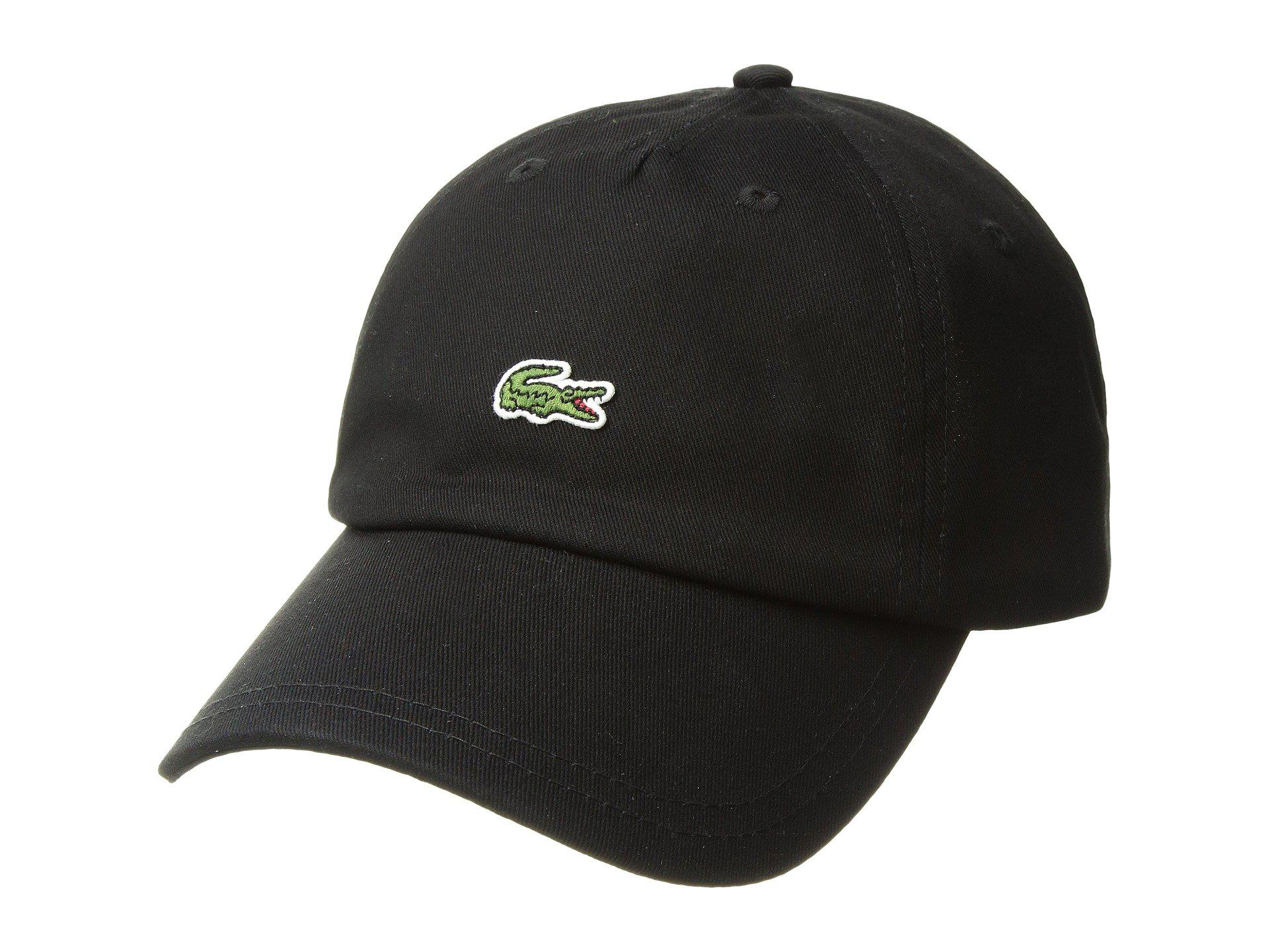 b4bb142a835 Lyst - Lacoste  small Croc  Strapback Cap in Black for Men