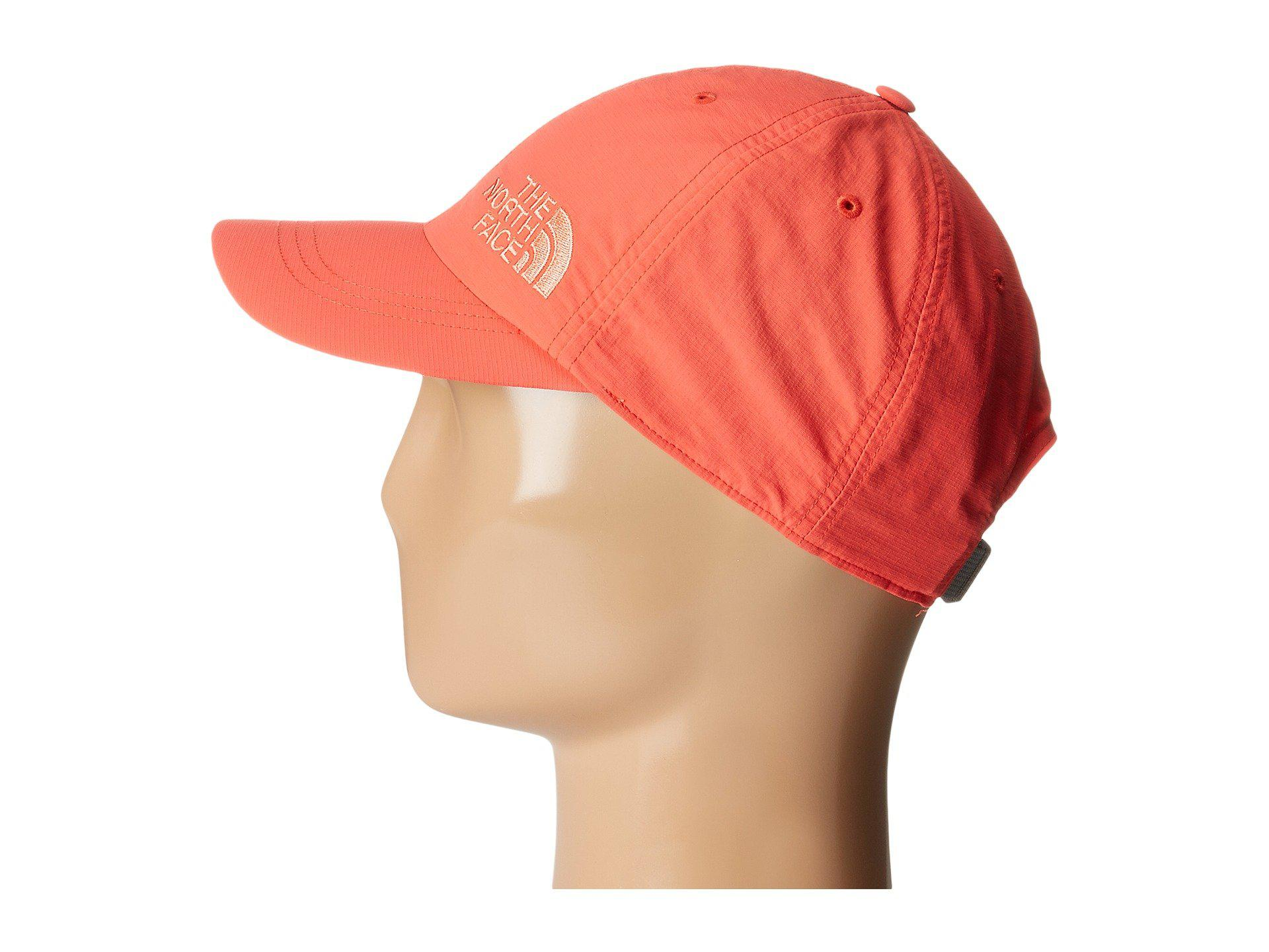 Lyst - The North Face Women s Horizon Ball Cap in Red ff9070f42e5