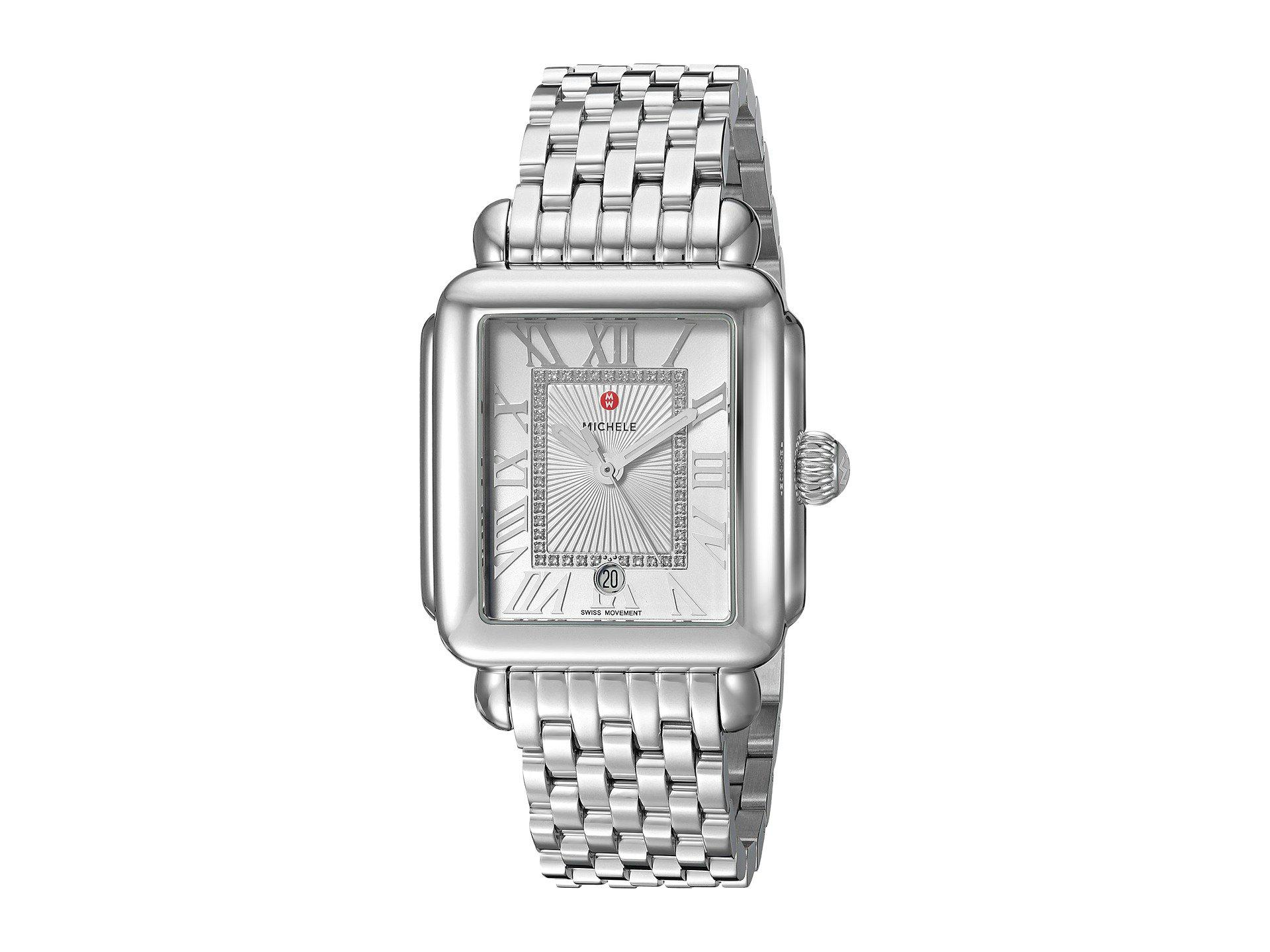 9e5f78248f964f Lyst - Michele Deco Madison Diamond Dial Watch (silver) Watches in ...
