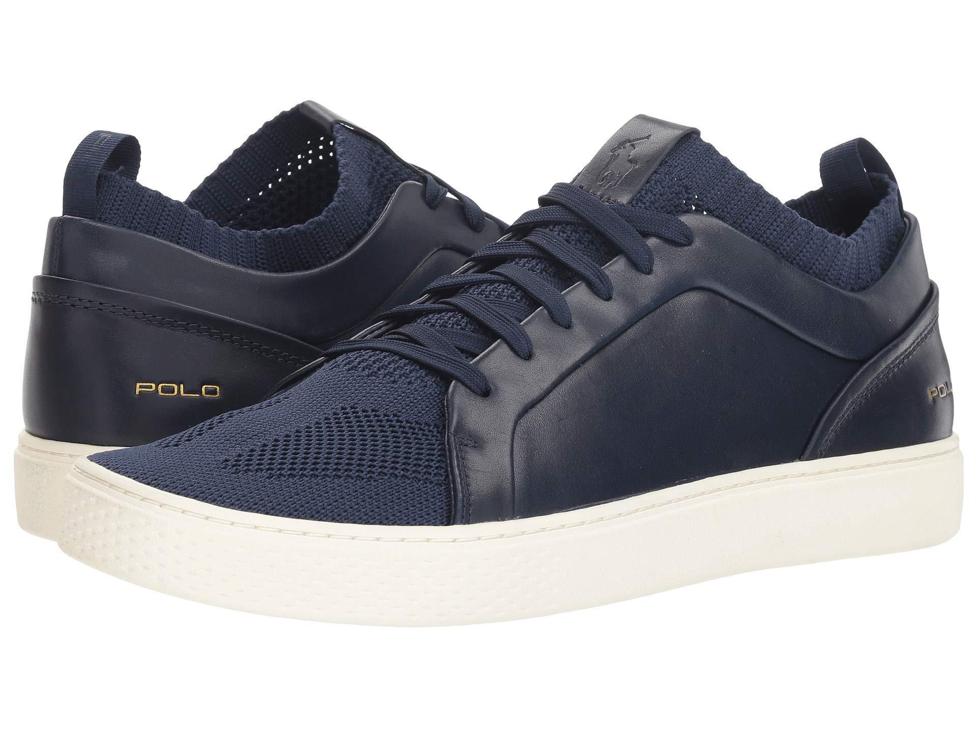 Lyst - Polo Ralph Lauren Court 150 (newport Navy) Men s Shoes in ... 1cb64802032