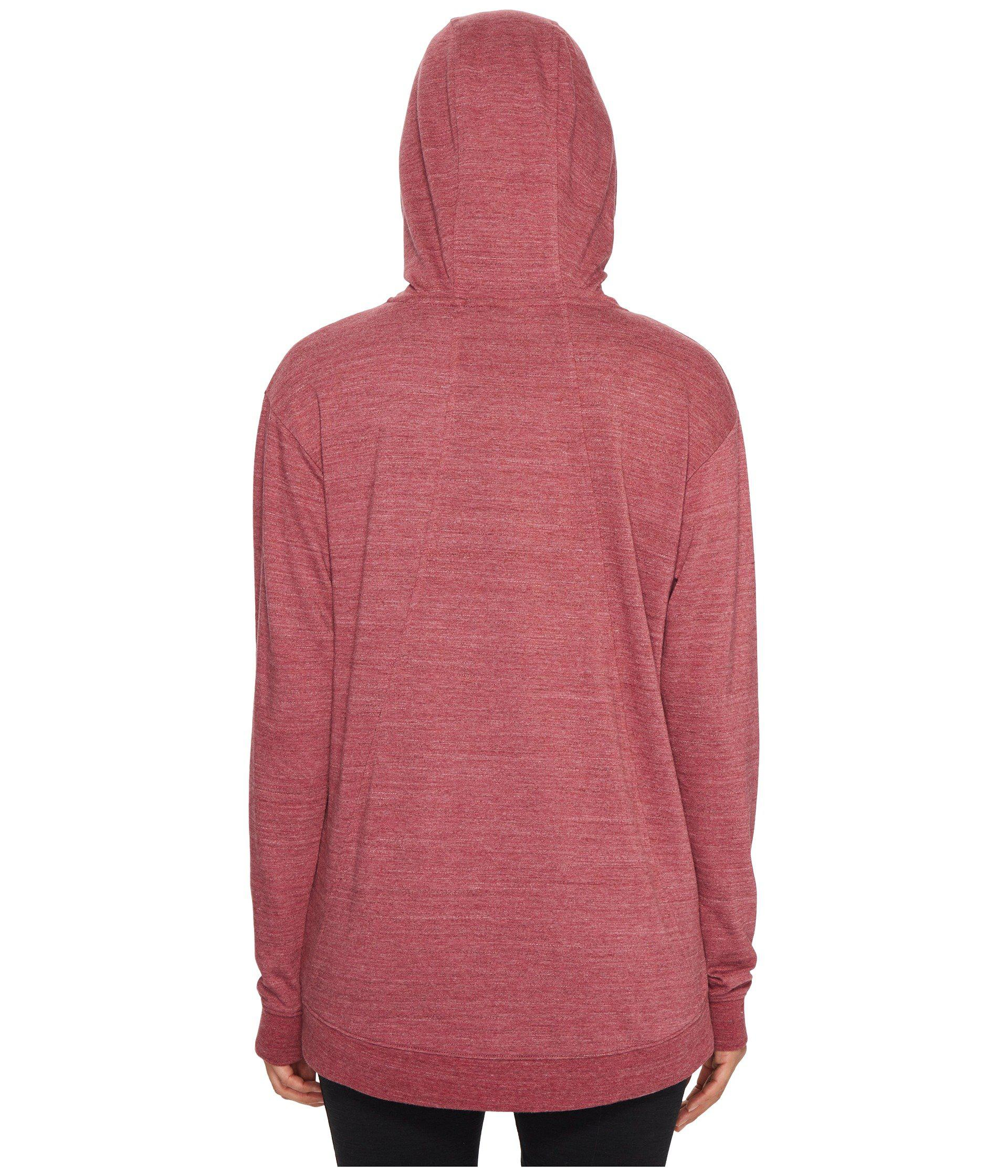 917048f59586 Lyst - Nike Sportswear Gym Classic Pullover Hoodie in Red