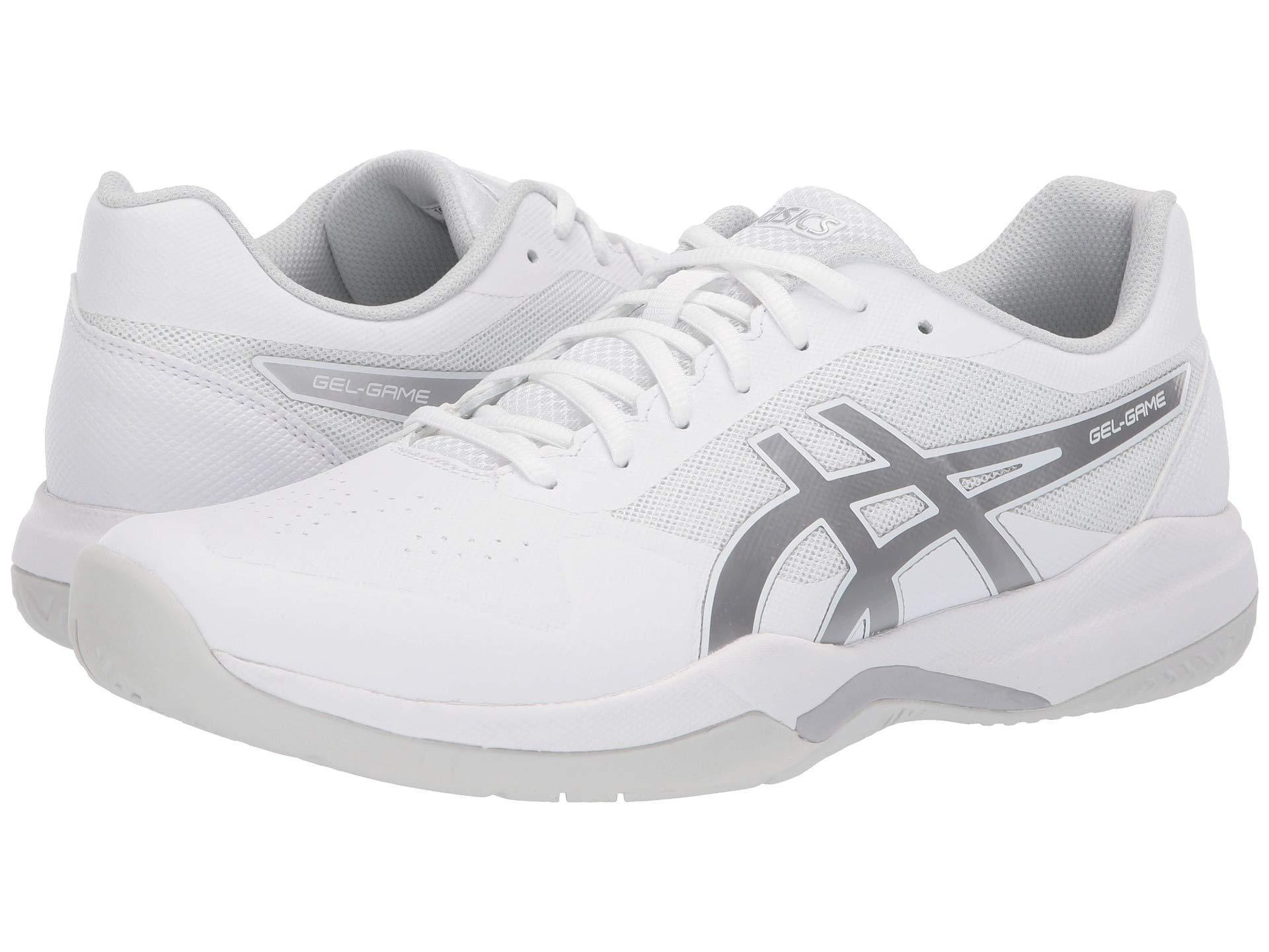 finest selection 3135e 3cea1 Asics. White Gel-game 7 (black cherry Tomato) Men s Tennis Shoes