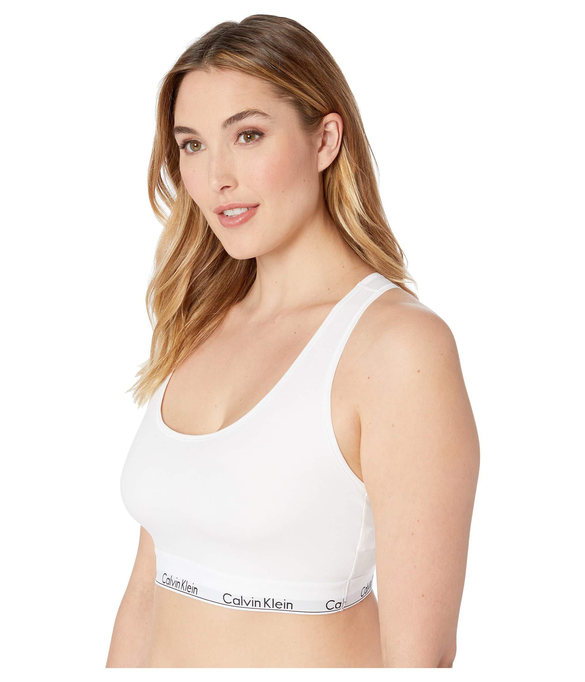 ee65f5e1d05 Calvin Klein - White Plus Size Modern Cotton Unlined Bralette (black)  Women s Bra -. View fullscreen