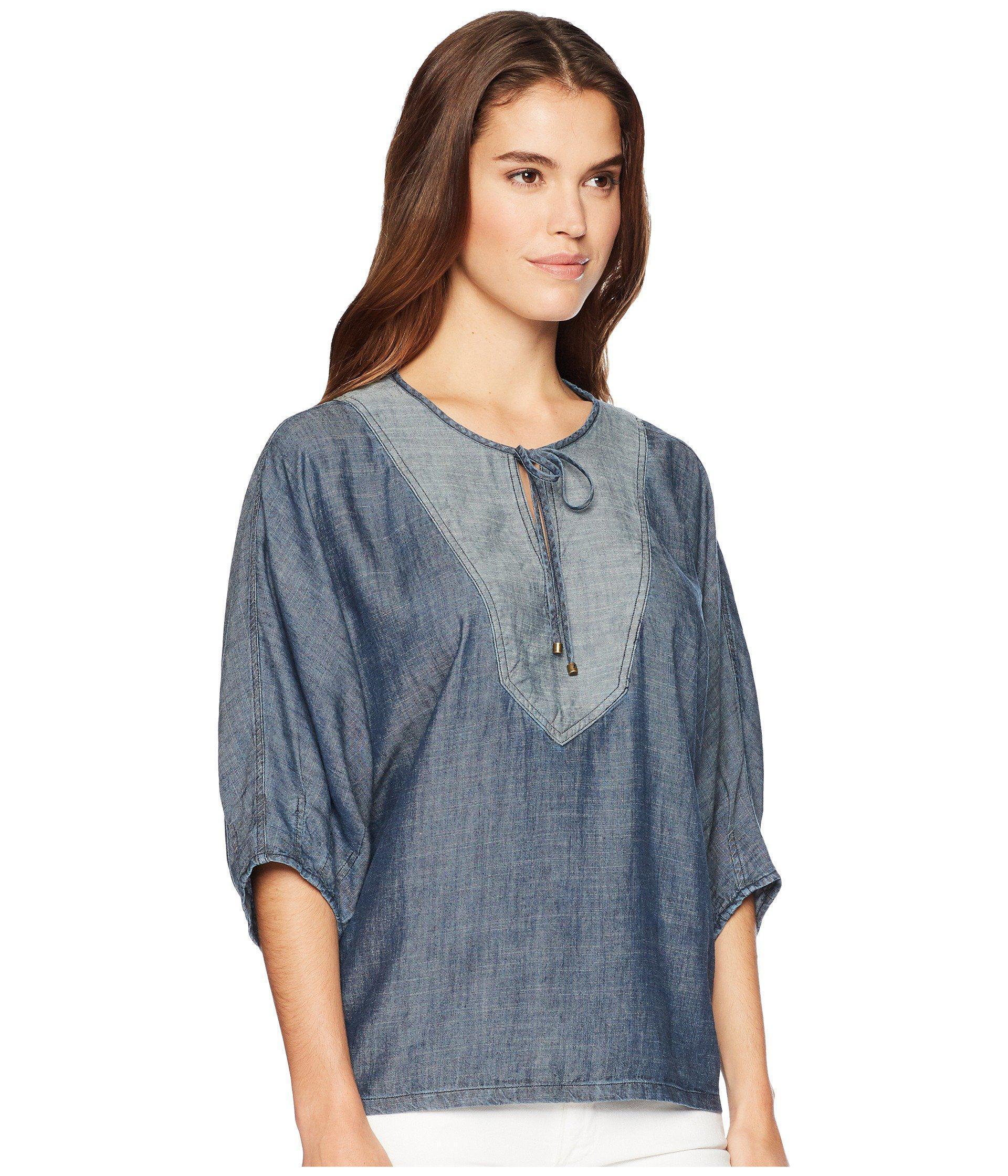 7273b75d1346 Lyst - Trina Turk San Francisco Top (indigo) Women's Clothing in Blue