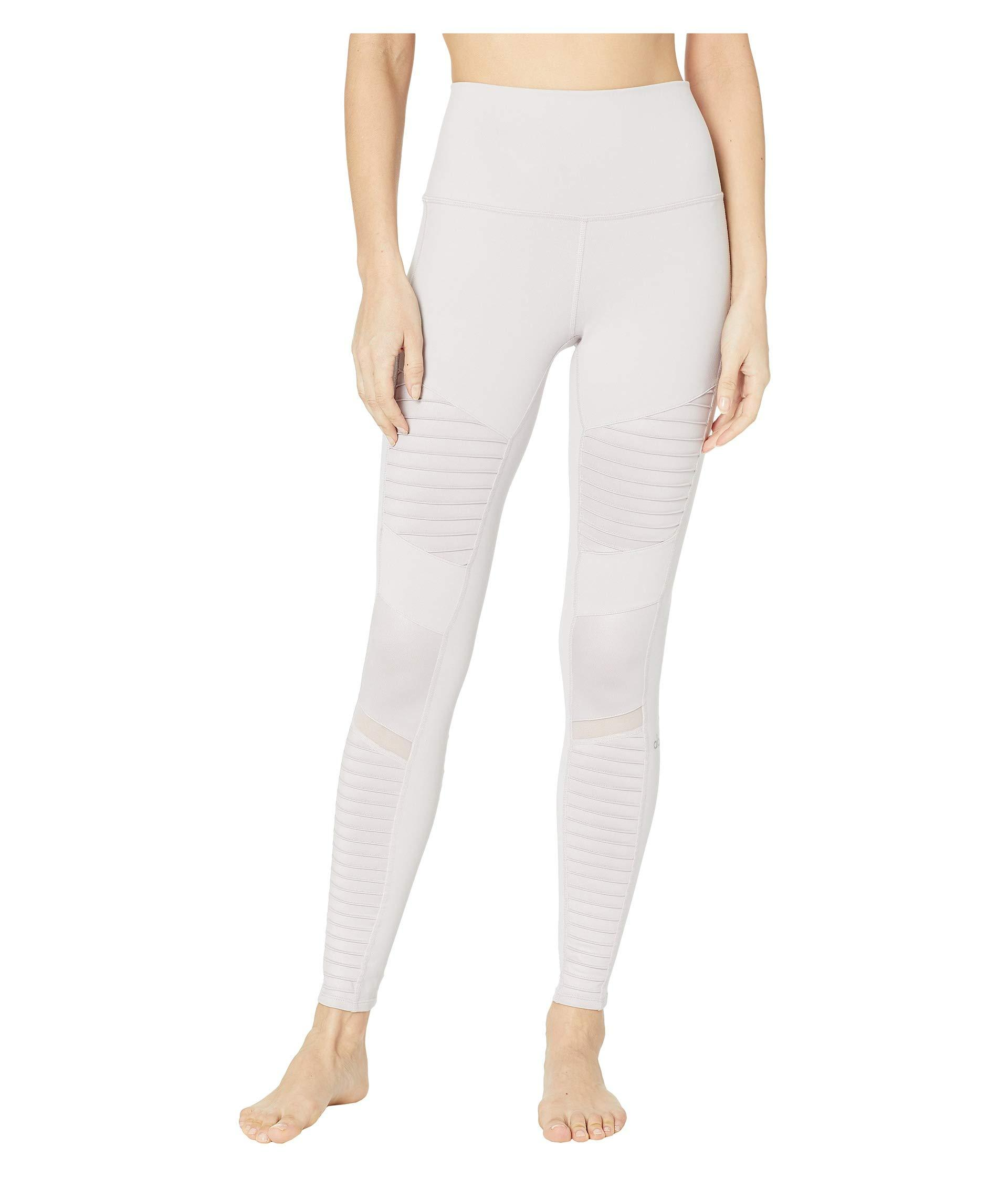 77c3ab8dae Alo Yoga. High Waisted Moto Leggings (pristine/pristine Glossy) Women's  Workout