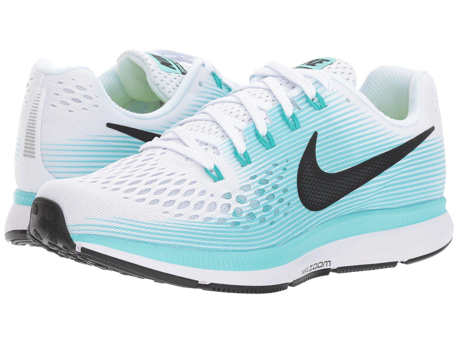828552c507ef Lyst - Nike Air Zoom Pegasus 34 (white black aurora Green) Women s ...