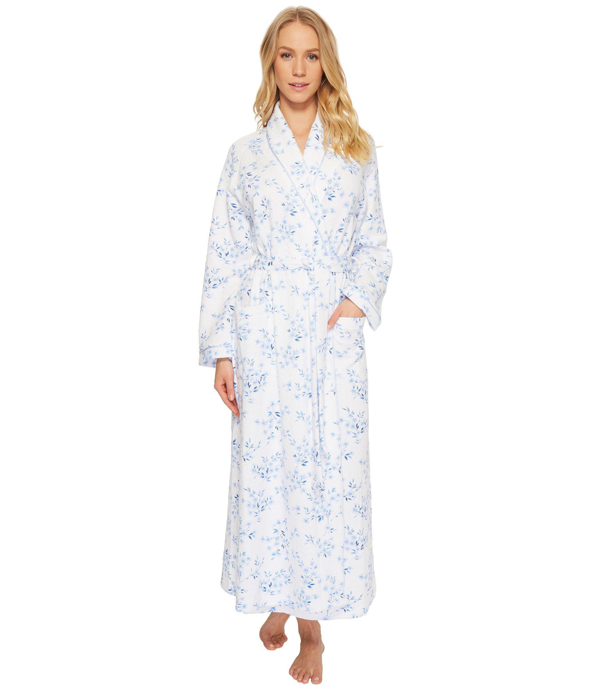Lyst - Carole hochman Double Diamond Quilt Long Robe in Blue