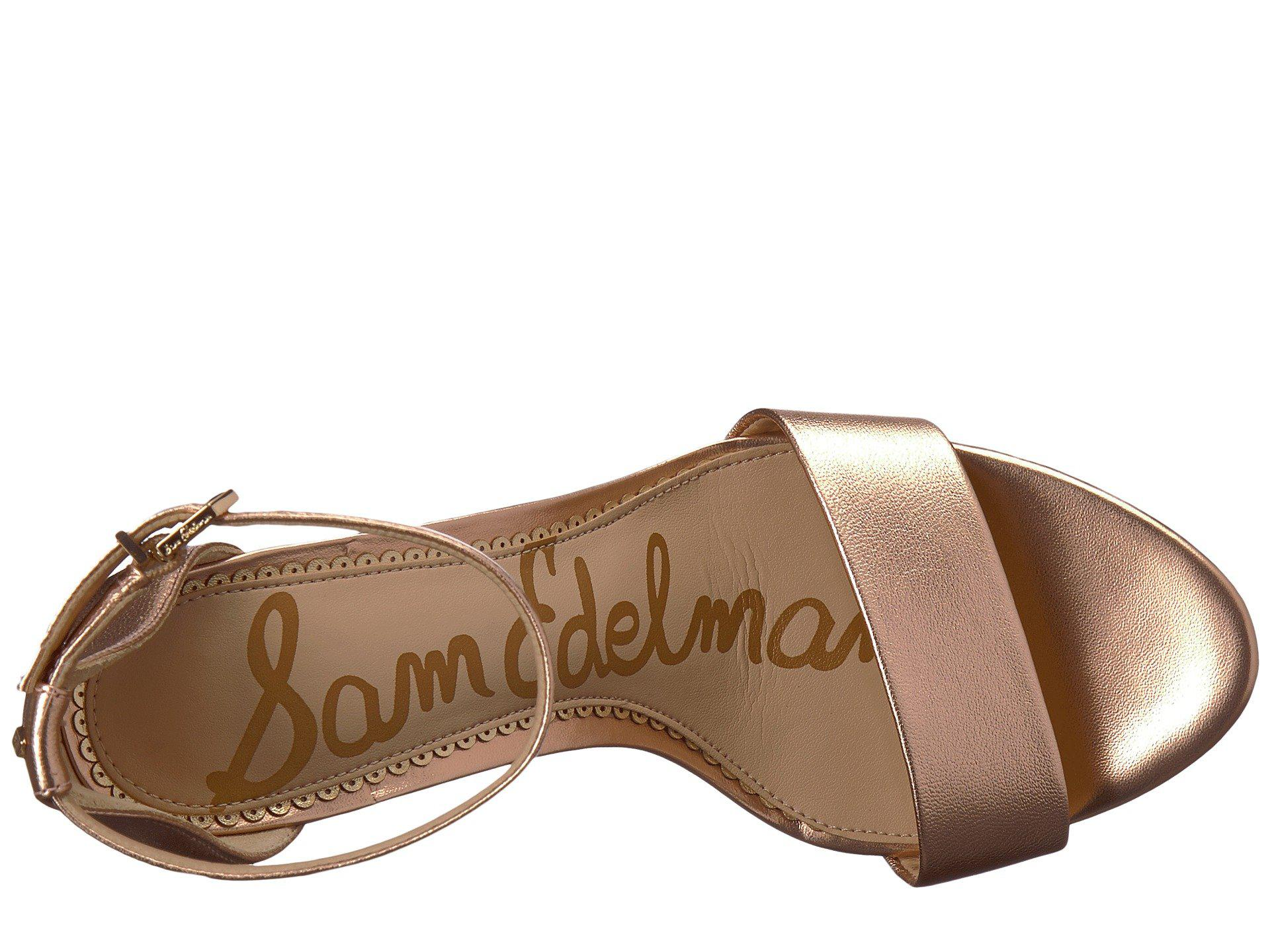 41e93a536779 Lyst - Sam Edelman Yaro Ankle Strap Sandal Heel (silver) Women s ...