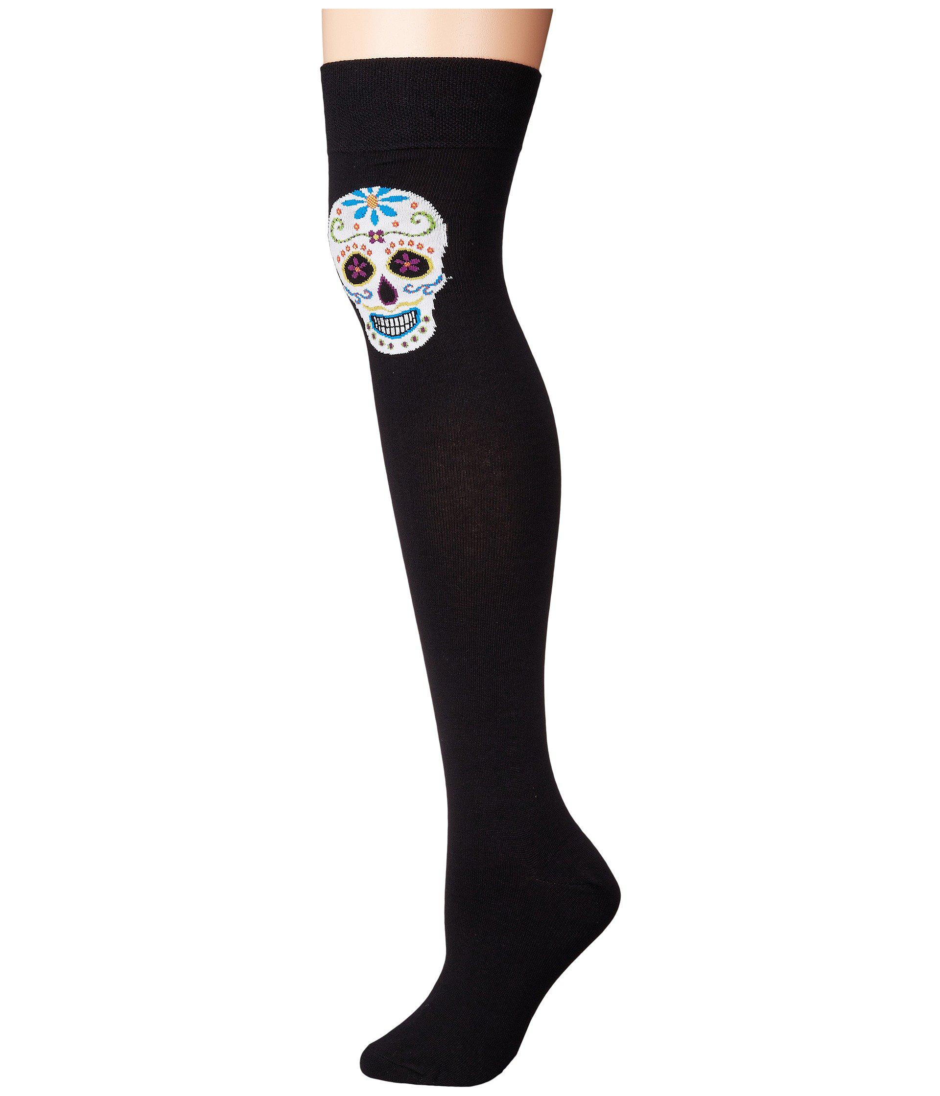 0e734126af1 Lyst - Socksmith Single Muertos (black) Women s Crew Cut Socks Shoes ...
