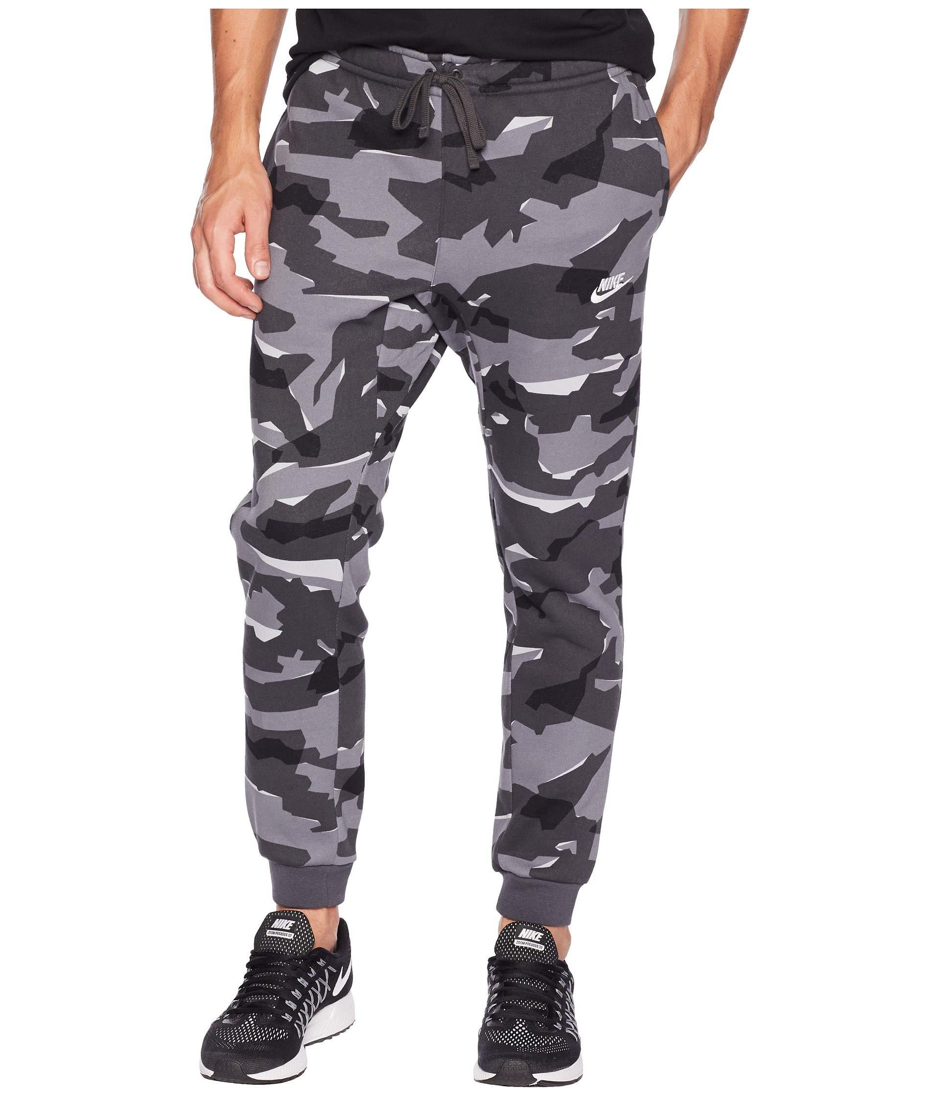 dd6c88883e Lyst - Nike Nsw Club Camo Jogger Bb (cool Grey anthracite white ...