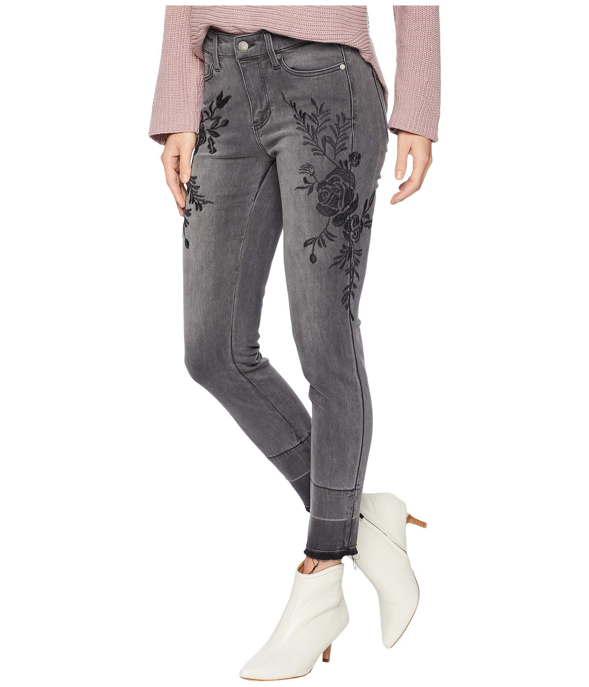 5d016d26759c4 Lyst - Liverpool Jeans Company Sadie Ankle Released Hem Embroidered In Soft  Stretch Denim In Titanium Wash (titanium Wash) Women s Jeans in Blue