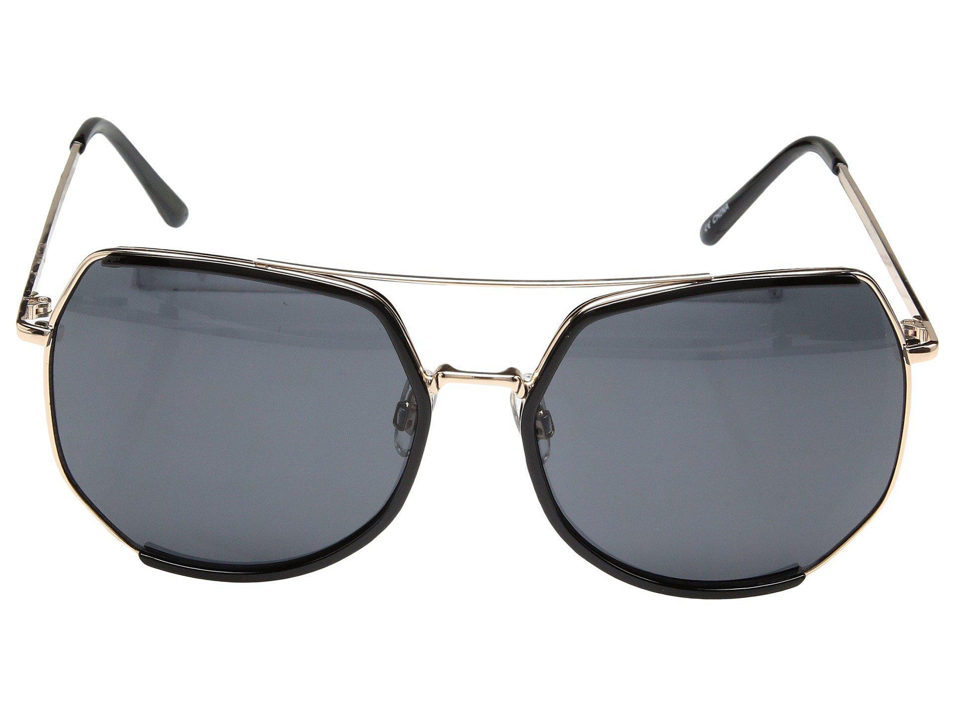 Lyst - San Diego Hat Company Metal Frame Octagon Sunglasses (black ...