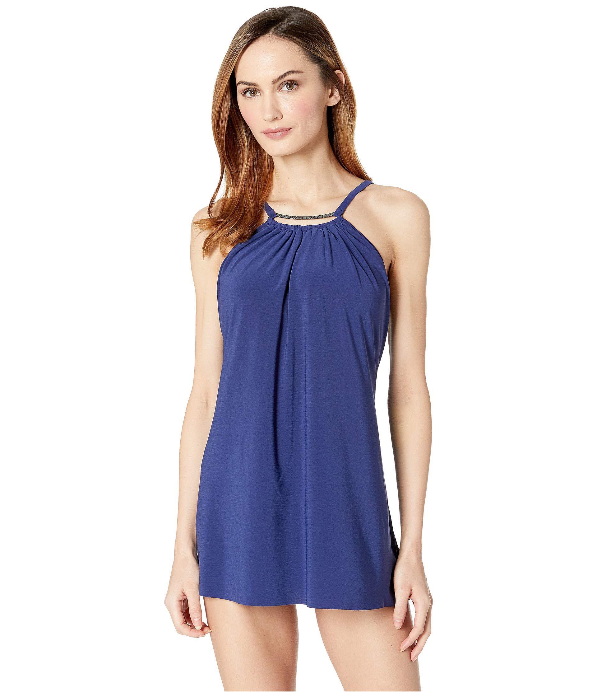 3e23c65ffb8dc Magicsuitr - Blue Solid Parker Swimdress One-piece (black) Women's  Swimsuits One Piece