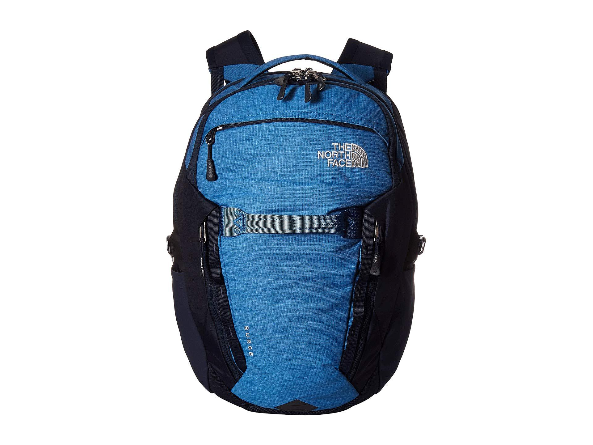 3a213fe88162 The North Face. Men s Surge Backpack (dish Blue Light Heather urban Navy)  ...