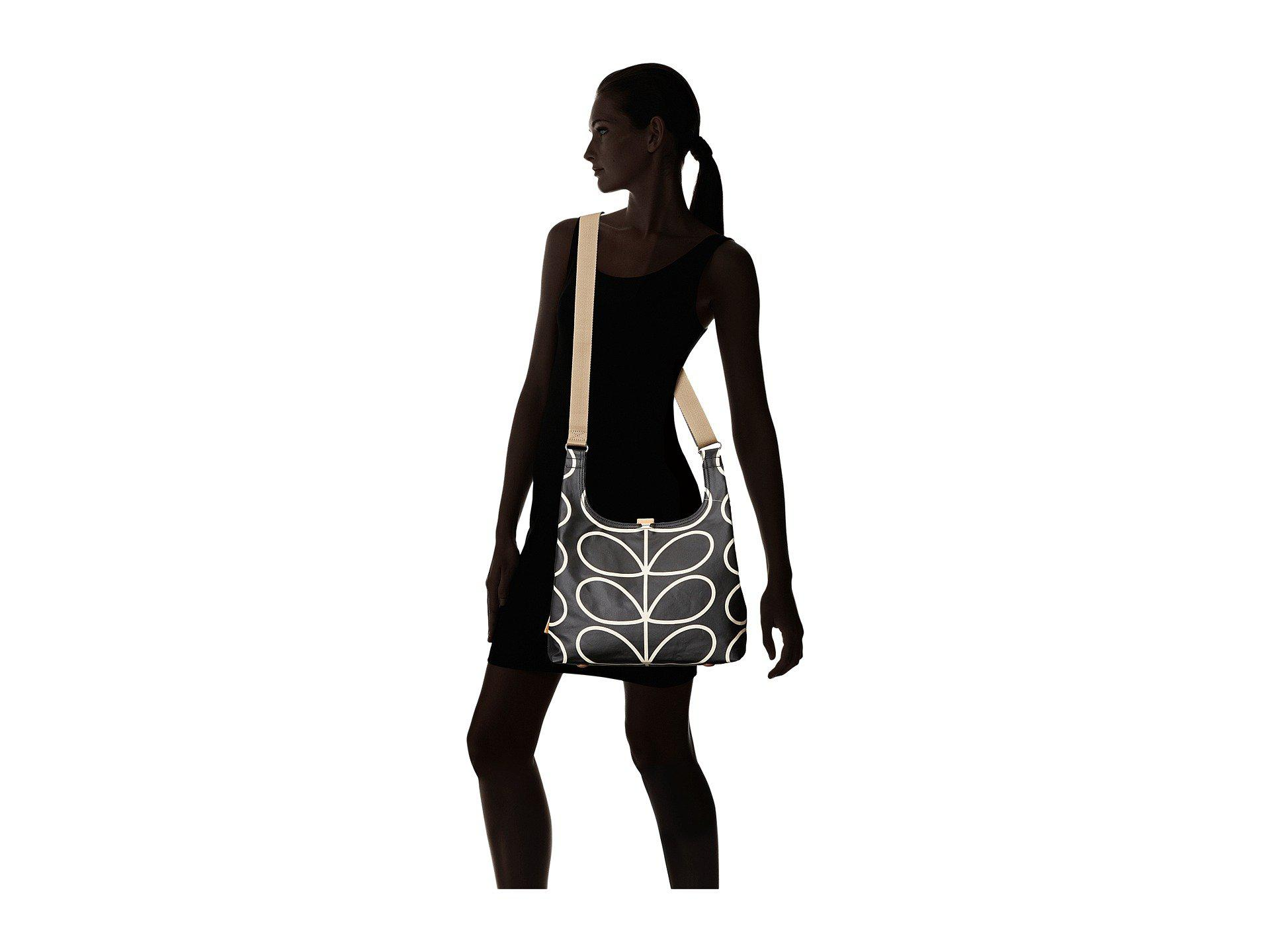 468c35f28d1fd Lyst - Orla Kiely Midi Sling Bag in Black