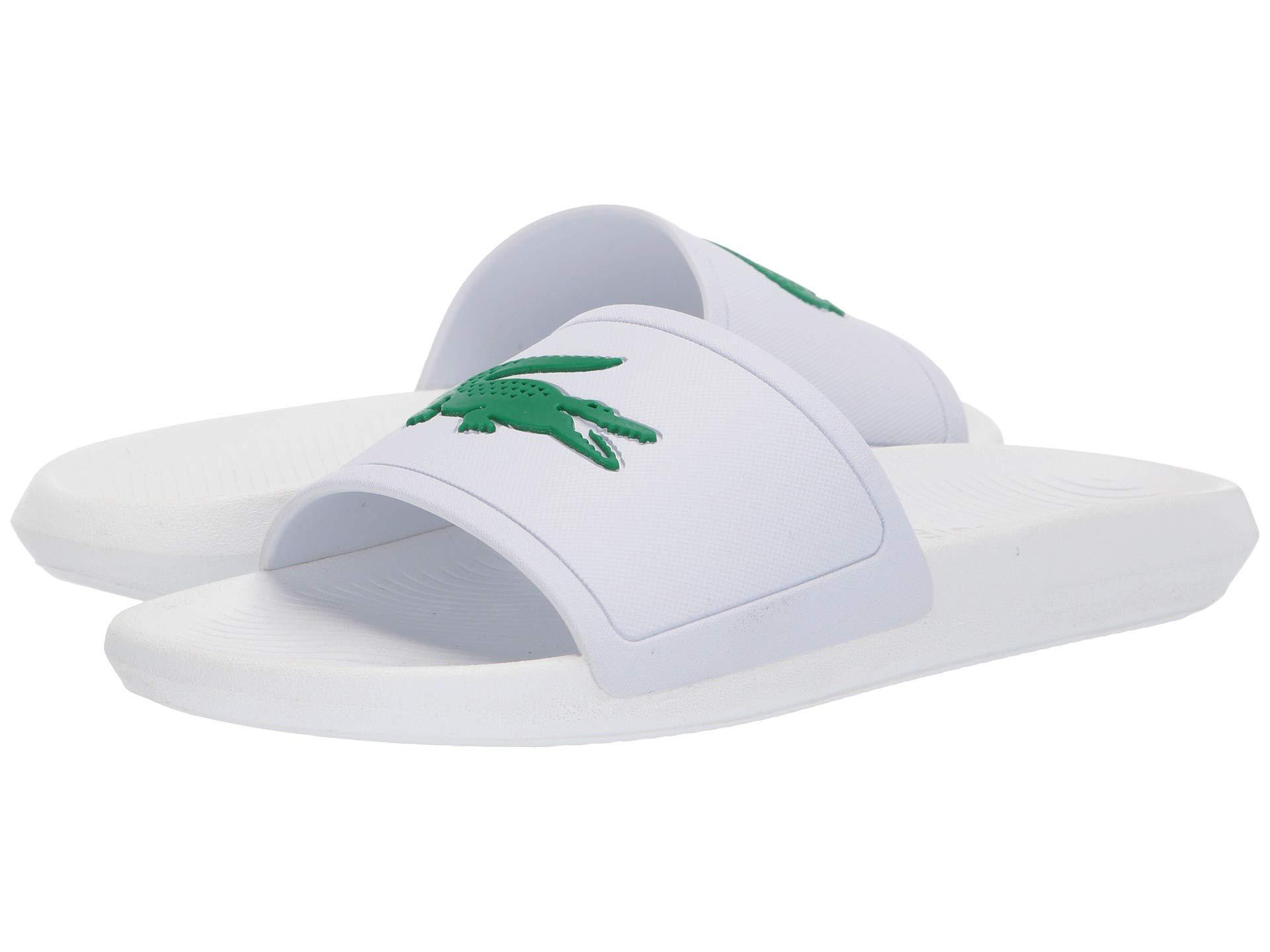 f2aba0cc2c5f Lyst - Lacoste Croco Slide 119 1 (white green) Men s Shoes in White ...