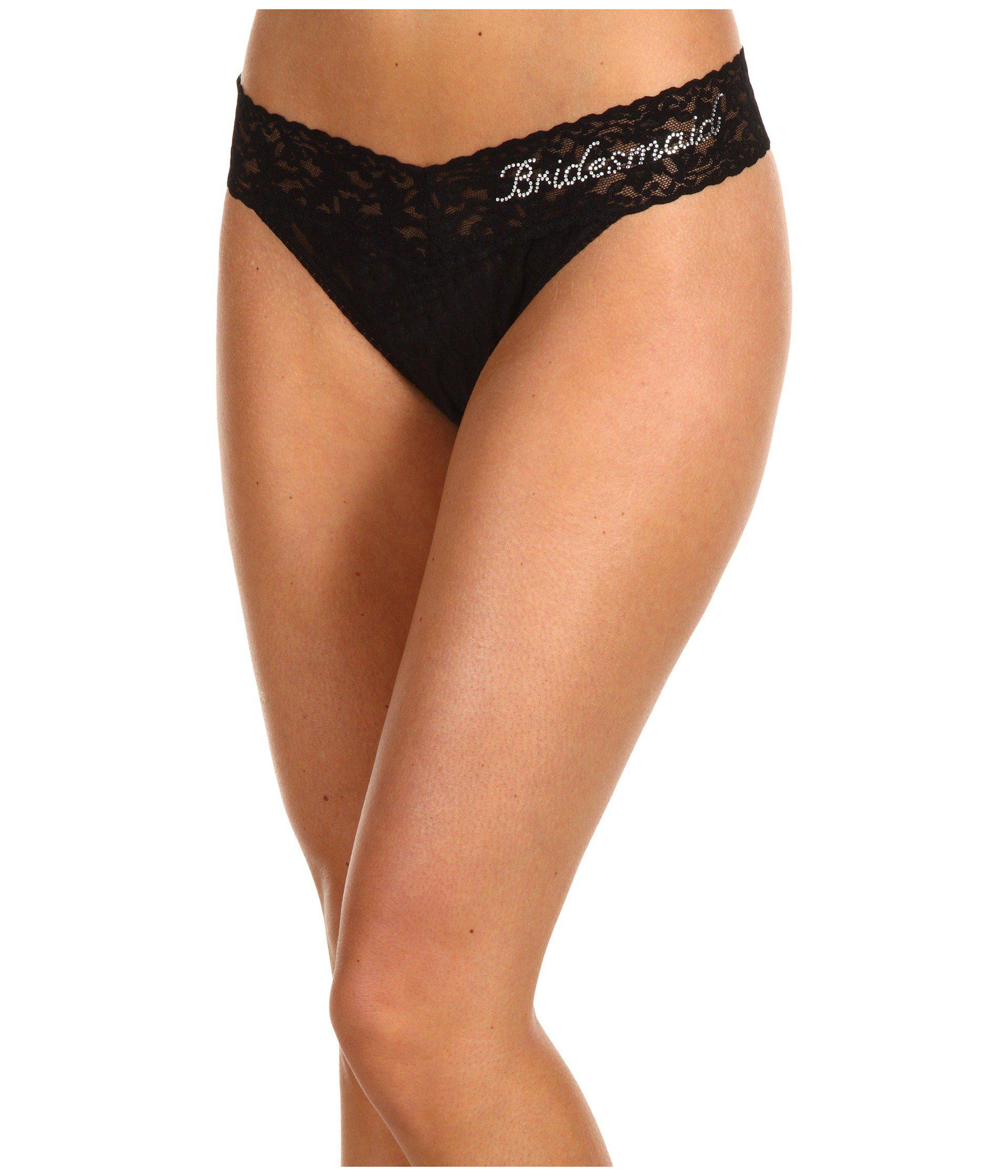 659e070eaddd7f Hanky Panky. Bridesmaid Original Rise Bridal Party Thong (black clear)  Women s Underwear