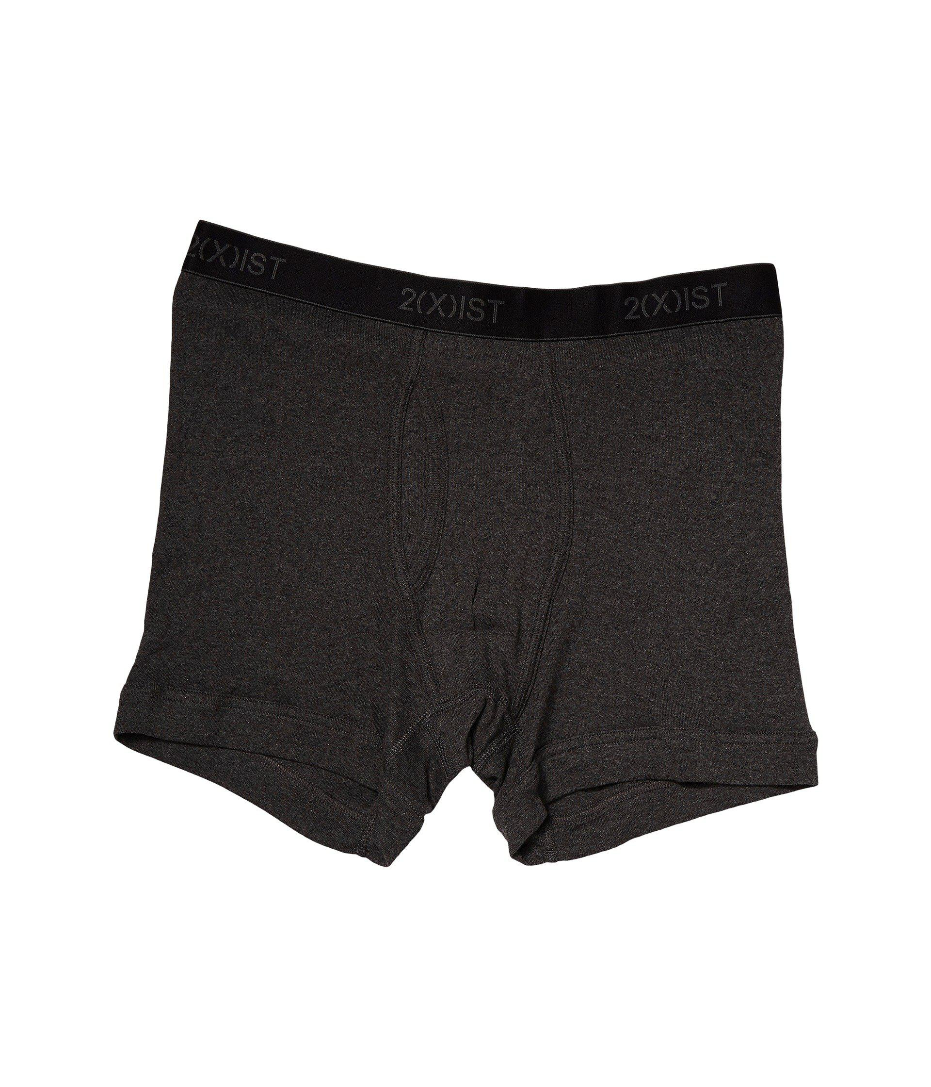 1a18e4e44a8 2xist 2(x)ist 3-pack Essential Boxer Briefs (black/grey Heather ...