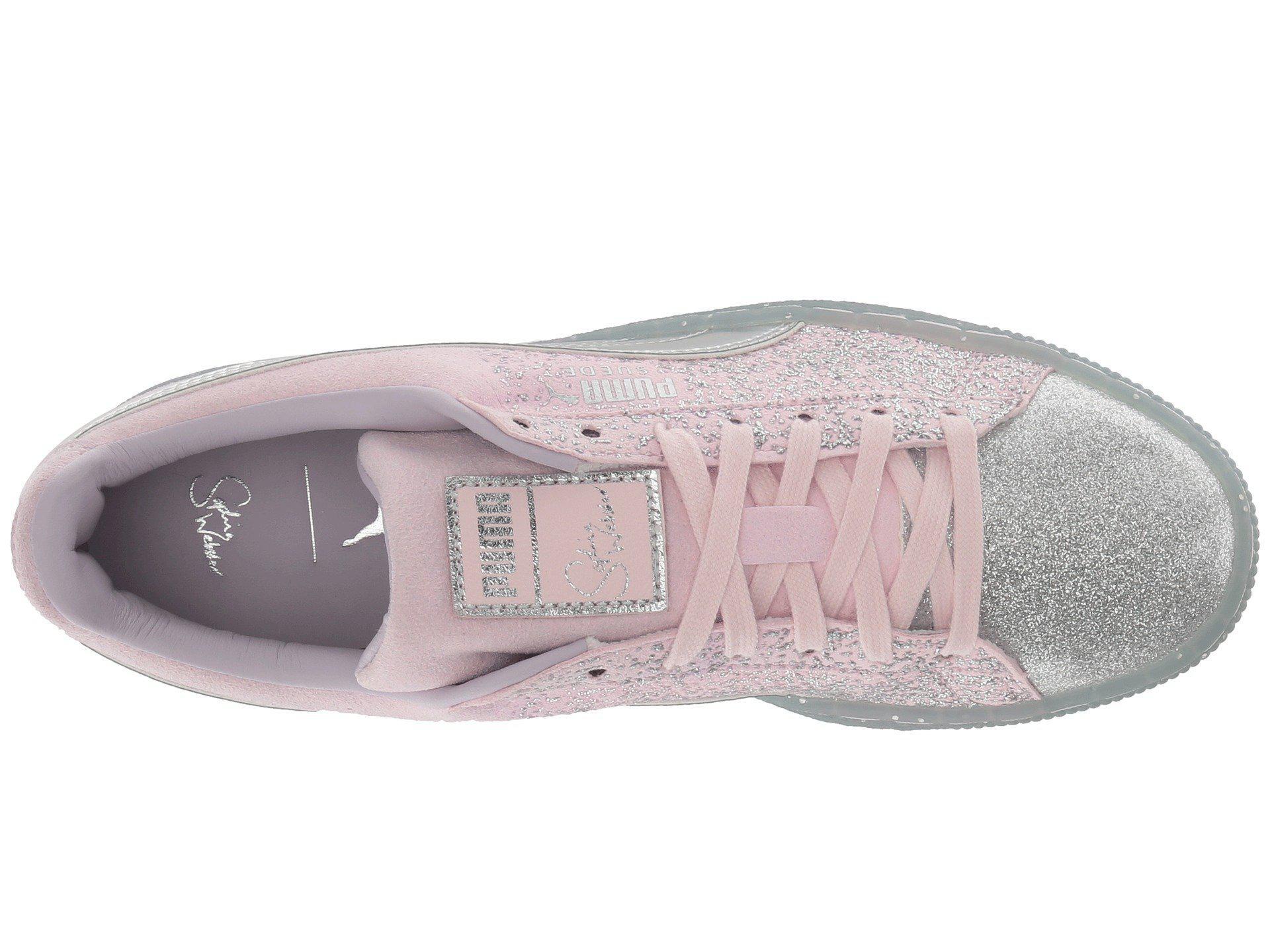 6c03ca2ab7e346 Lyst - PUMA X Sophia Webster Suede Glitter Princess Sneaker (orchid ...