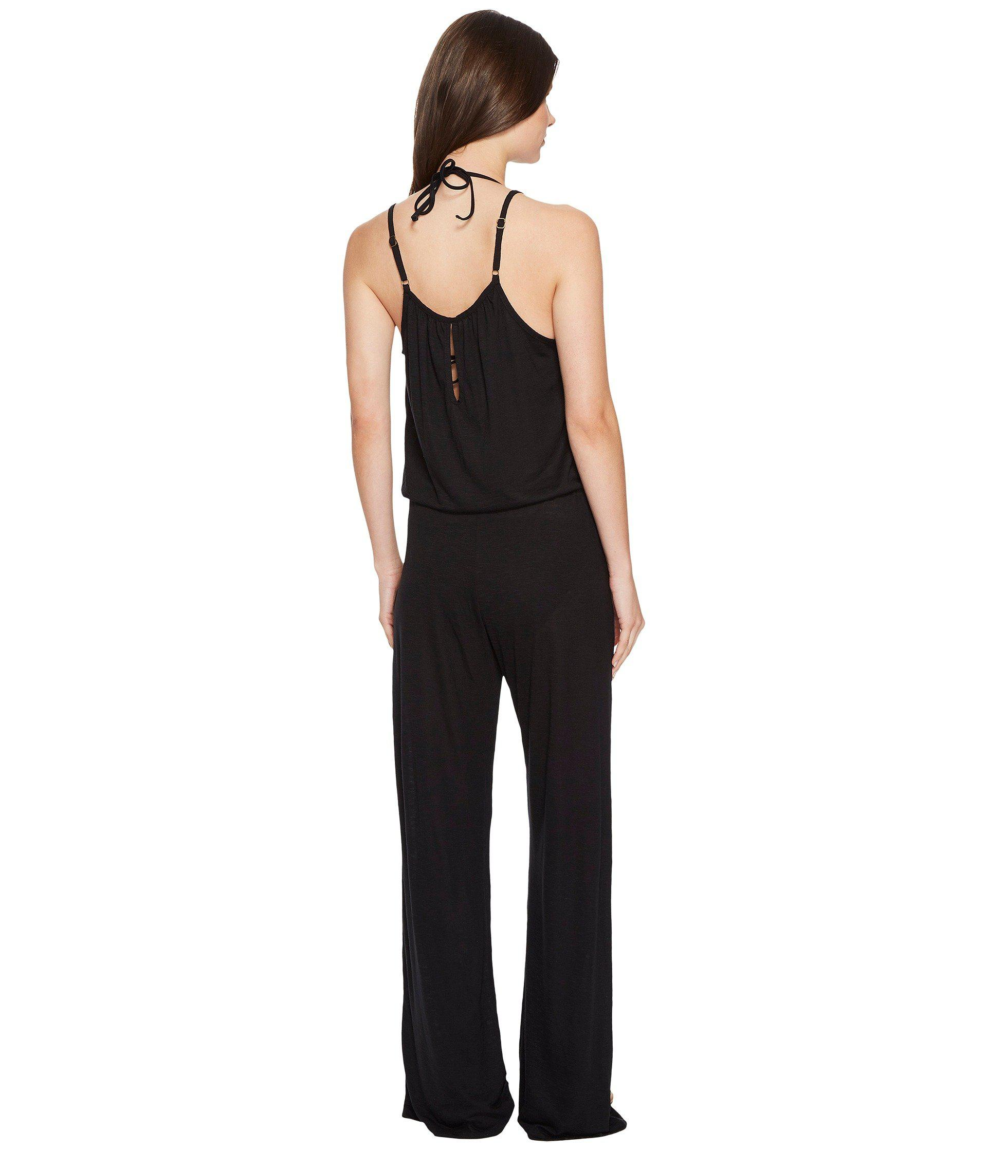 ced44ee1ac251 Lyst - Becca Breezy Basics Jumpsuit Cover-up in Black