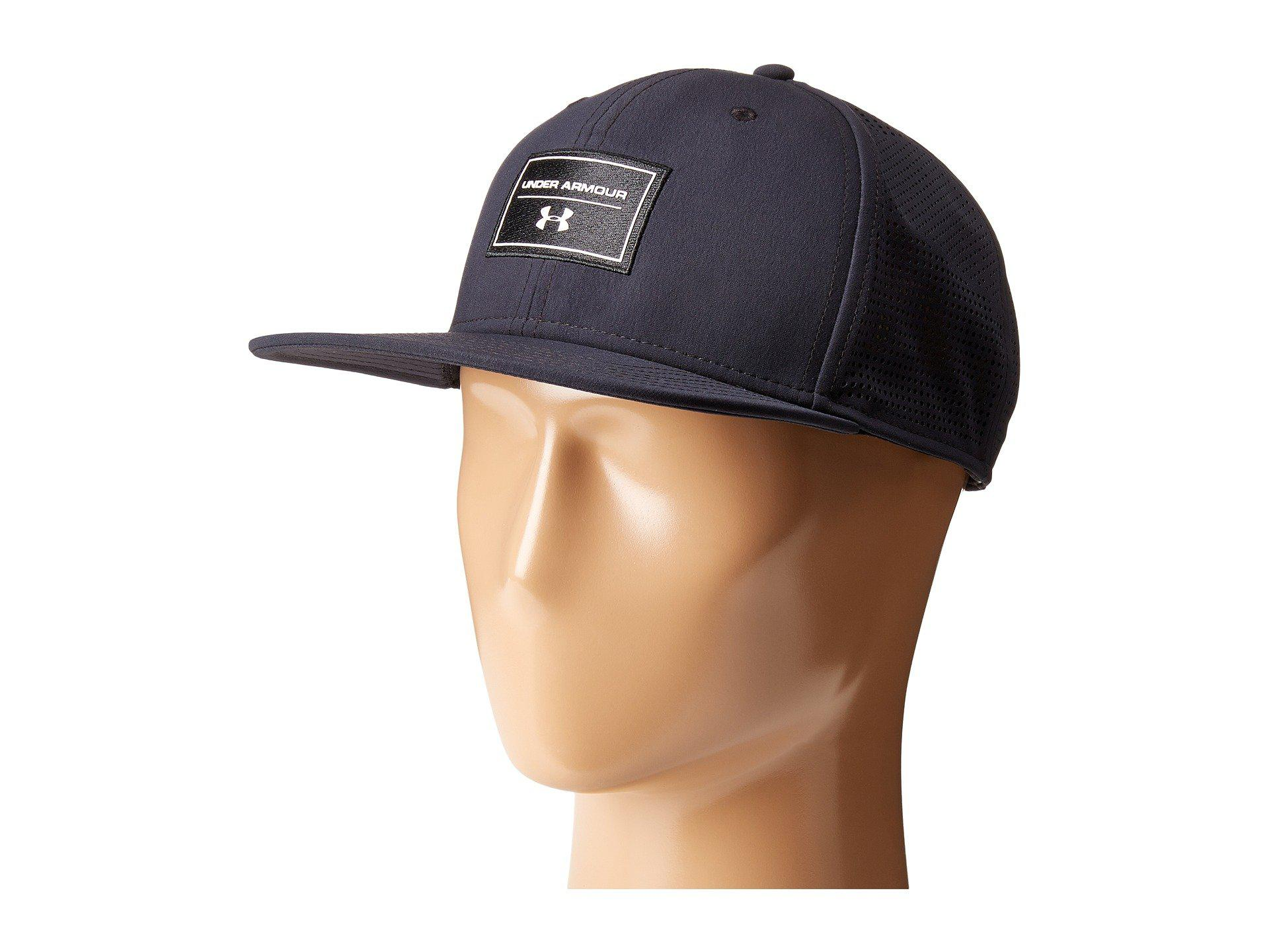 e00a203f6b19a ... cheap lyst under armour ua supervent fb hat in black for men f6c8e 6626a