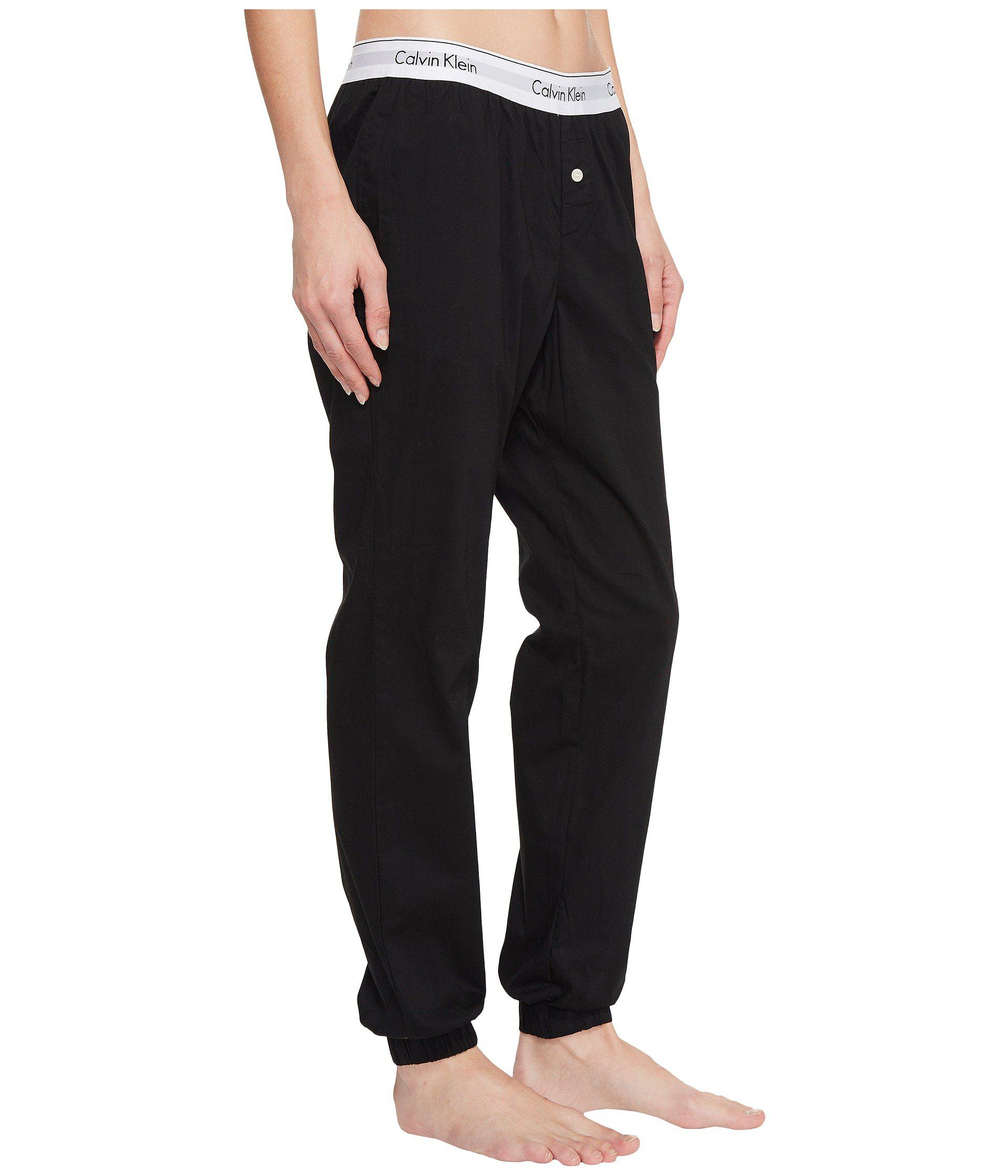 Lyst - Calvin Klein Modern Cotton Jogger (black) Women s Pajama in ... 9d0464875